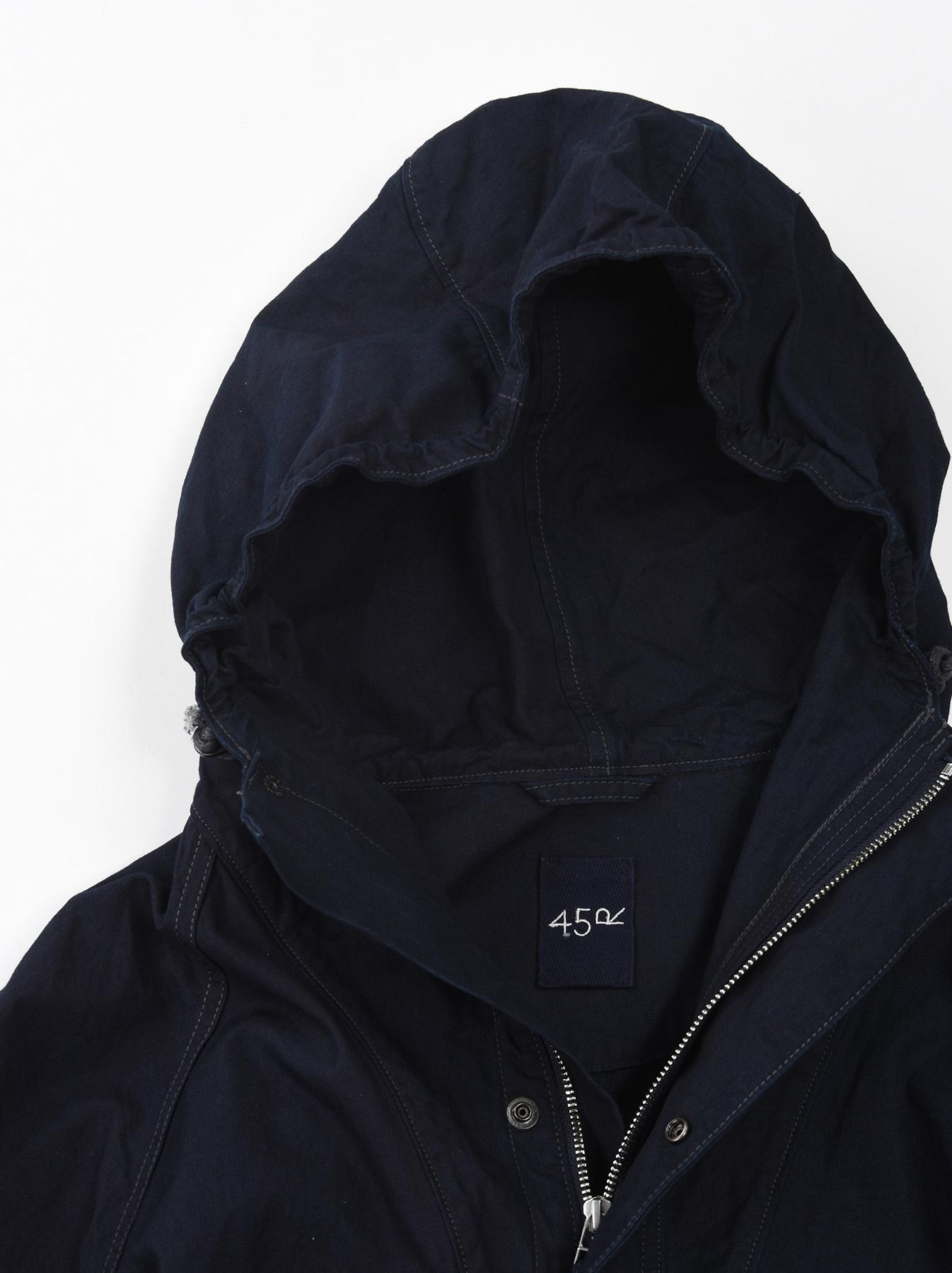 Indigo OX Snow Hoodie Coat-5