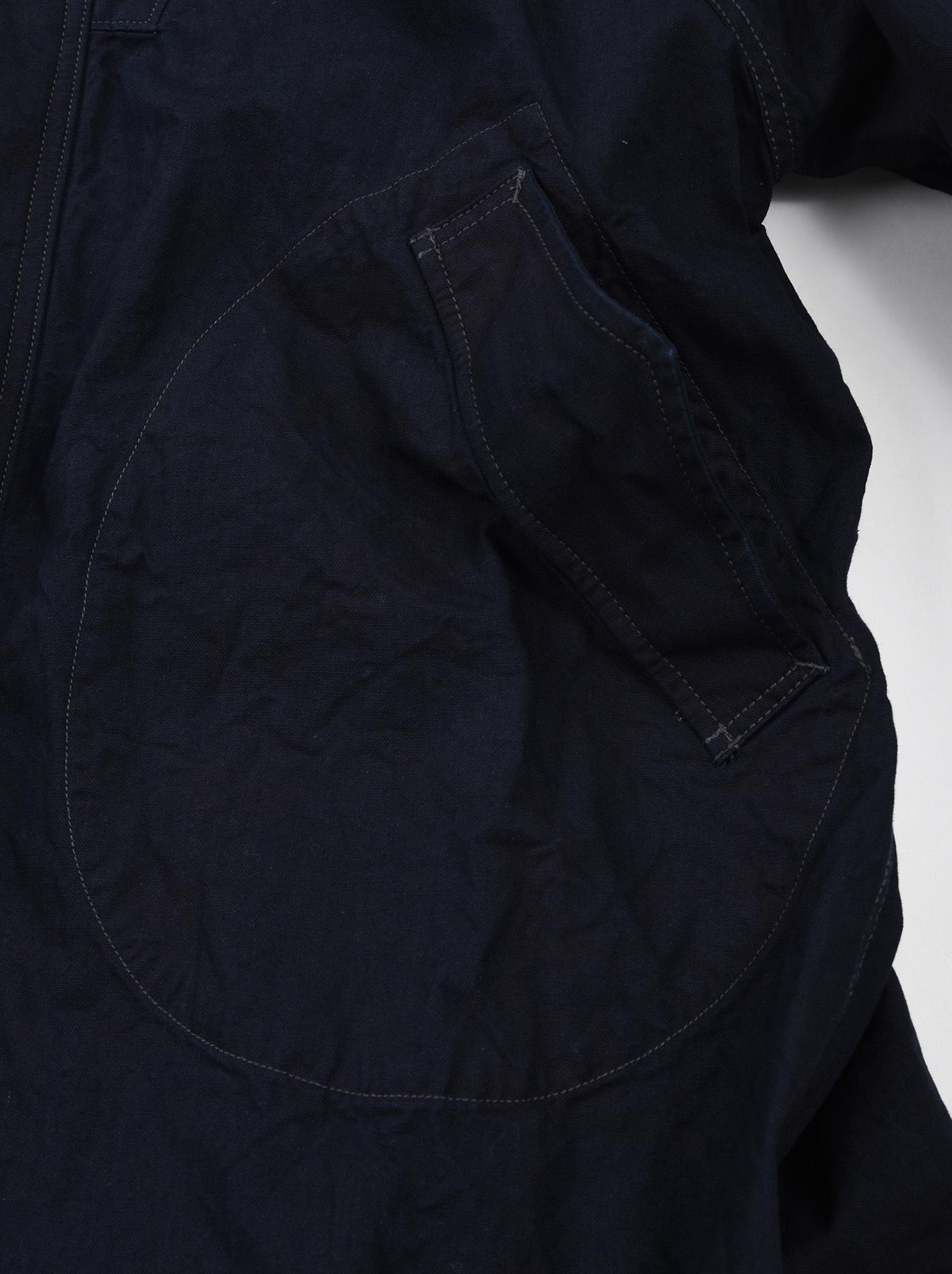 Indigo OX Snow Hoodie Coat-9