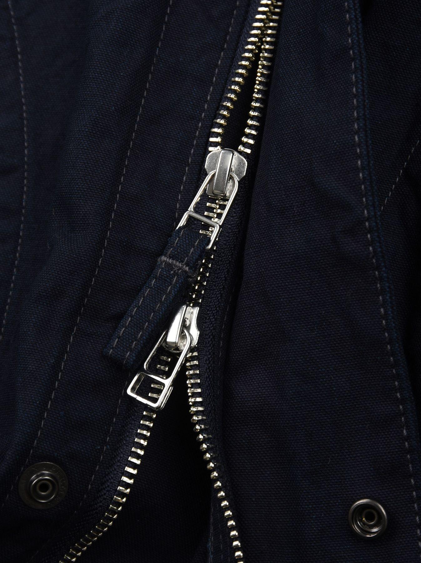 Indigo OX Snow Hoodie Coat-10