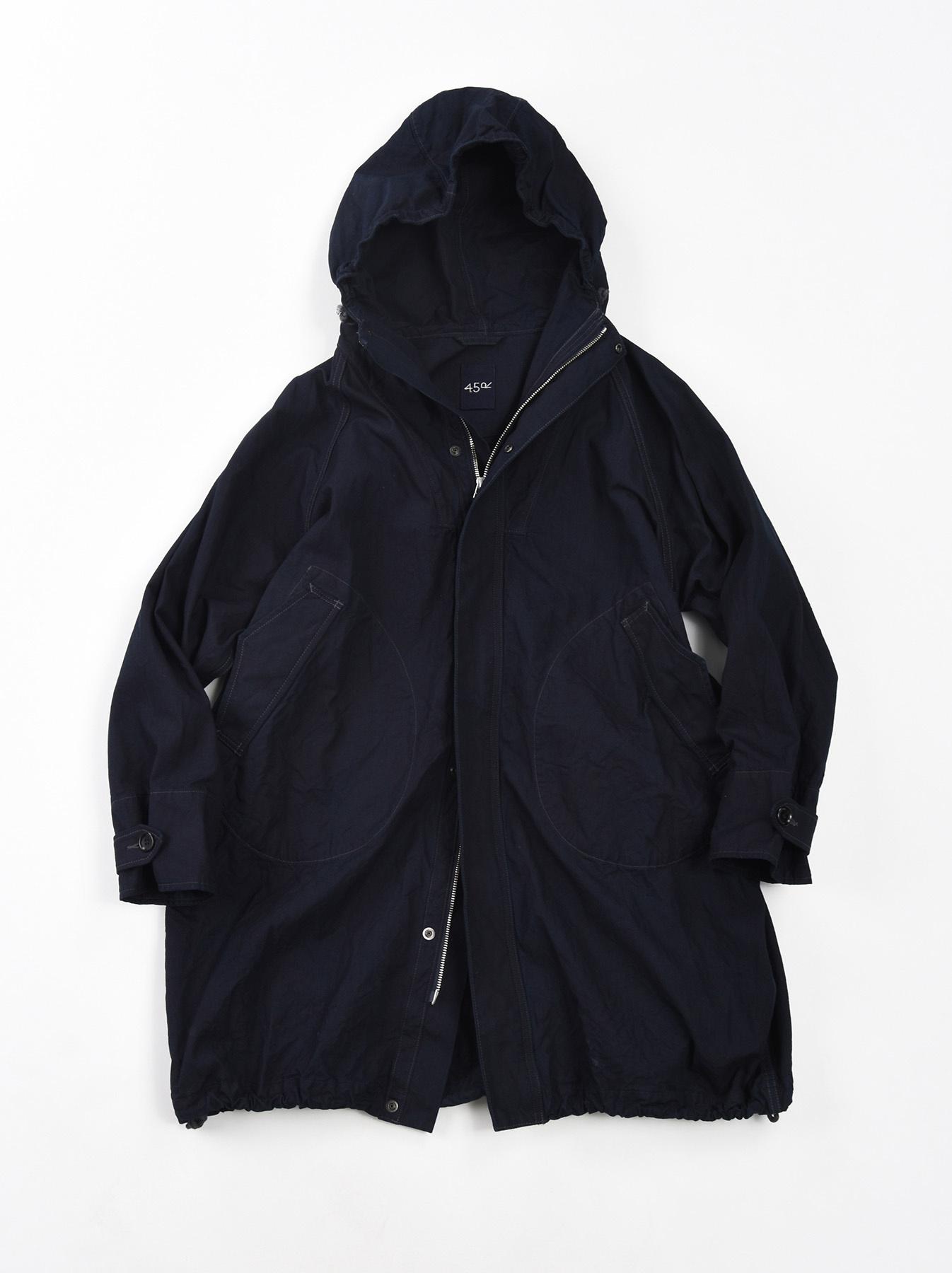Indigo OX Snow Hoodie Coat-1