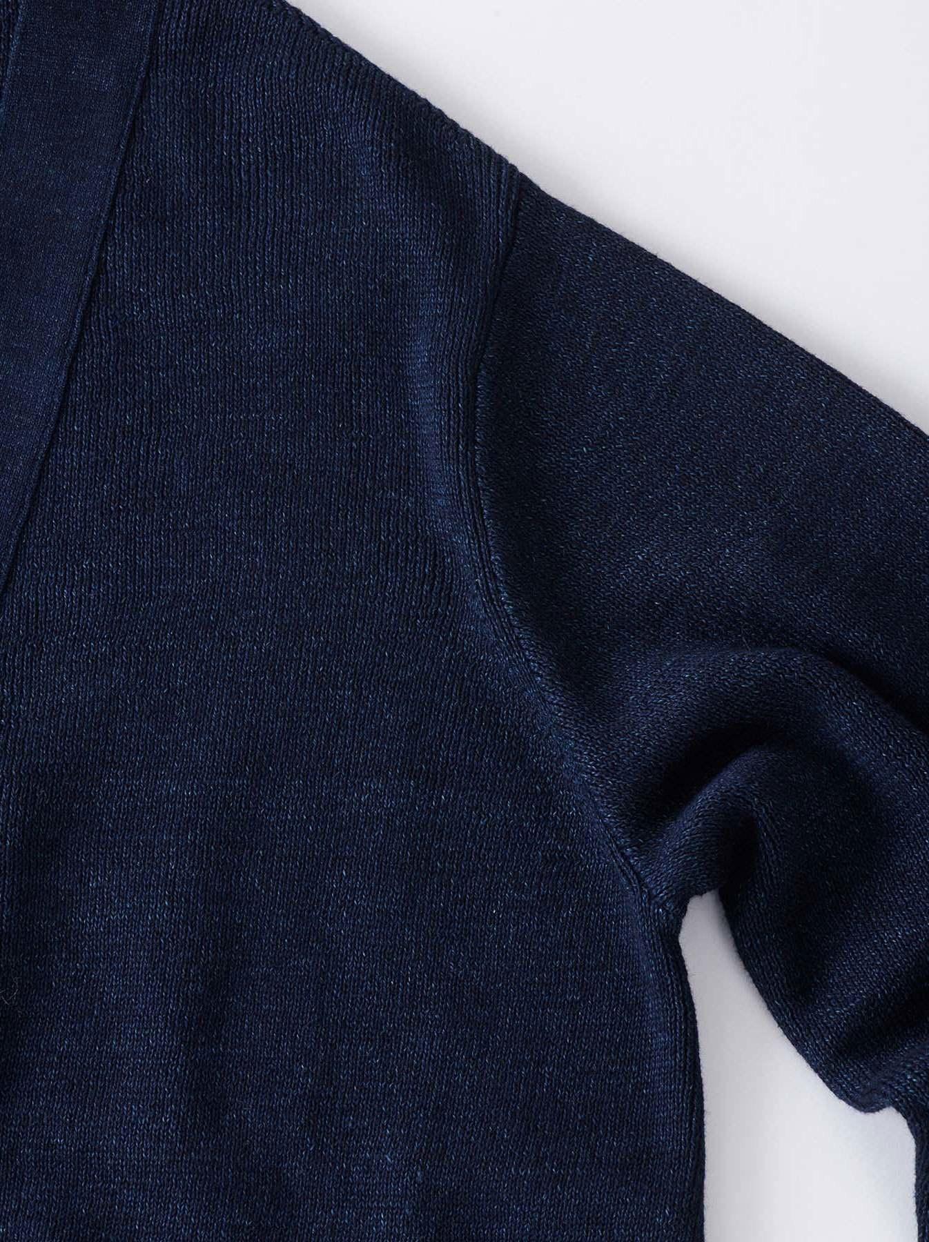WH Indigo Supima Knit-sew Coat-3