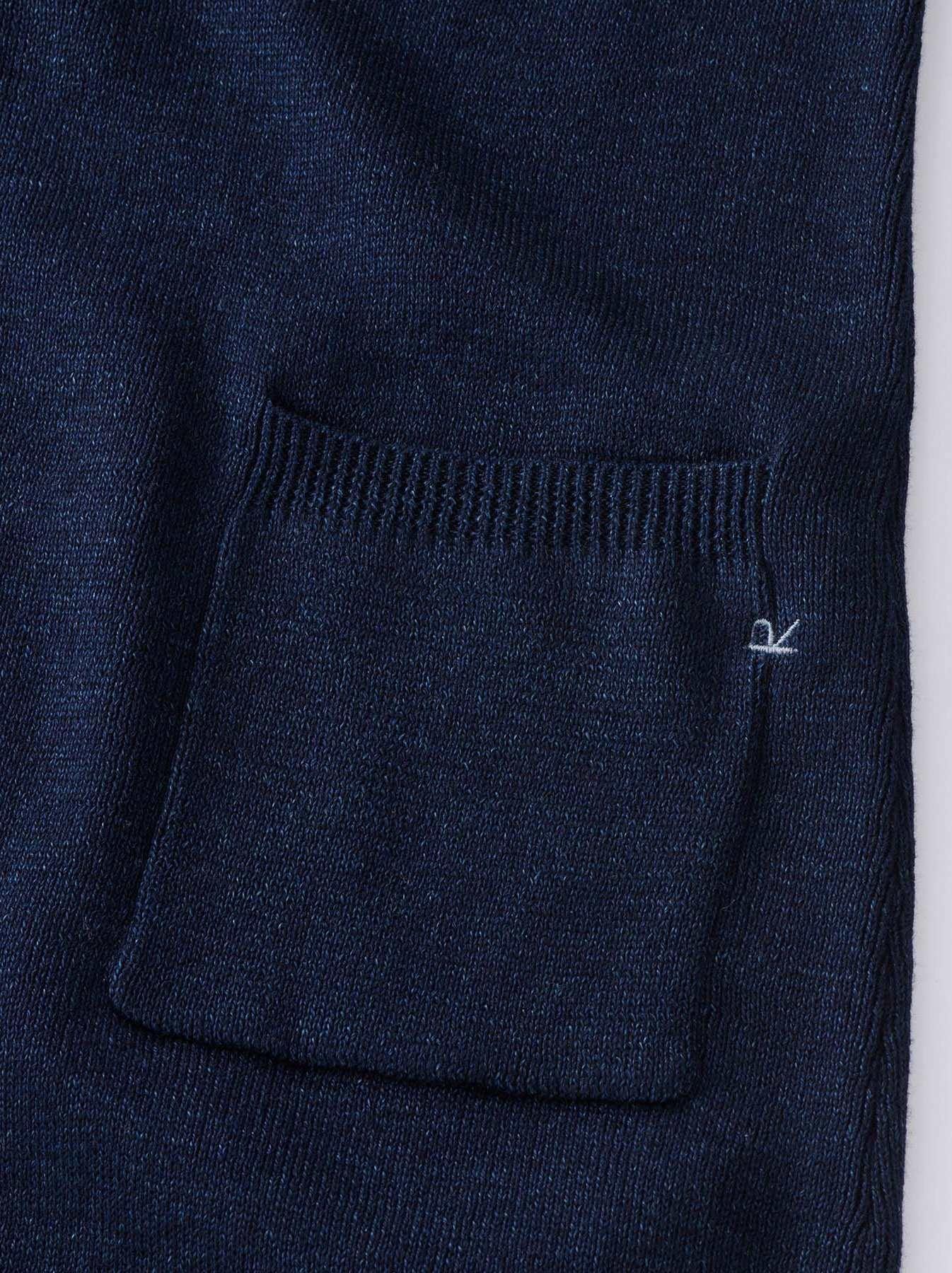WH Indigo Supima Knit-sew Coat-6
