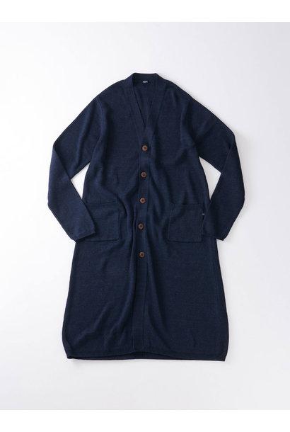 WH Indigo Supima Knit-sew Coat