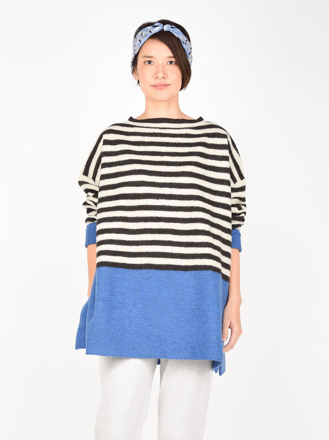 WH Arles Boiled Wool Stripe Big Tunic-5