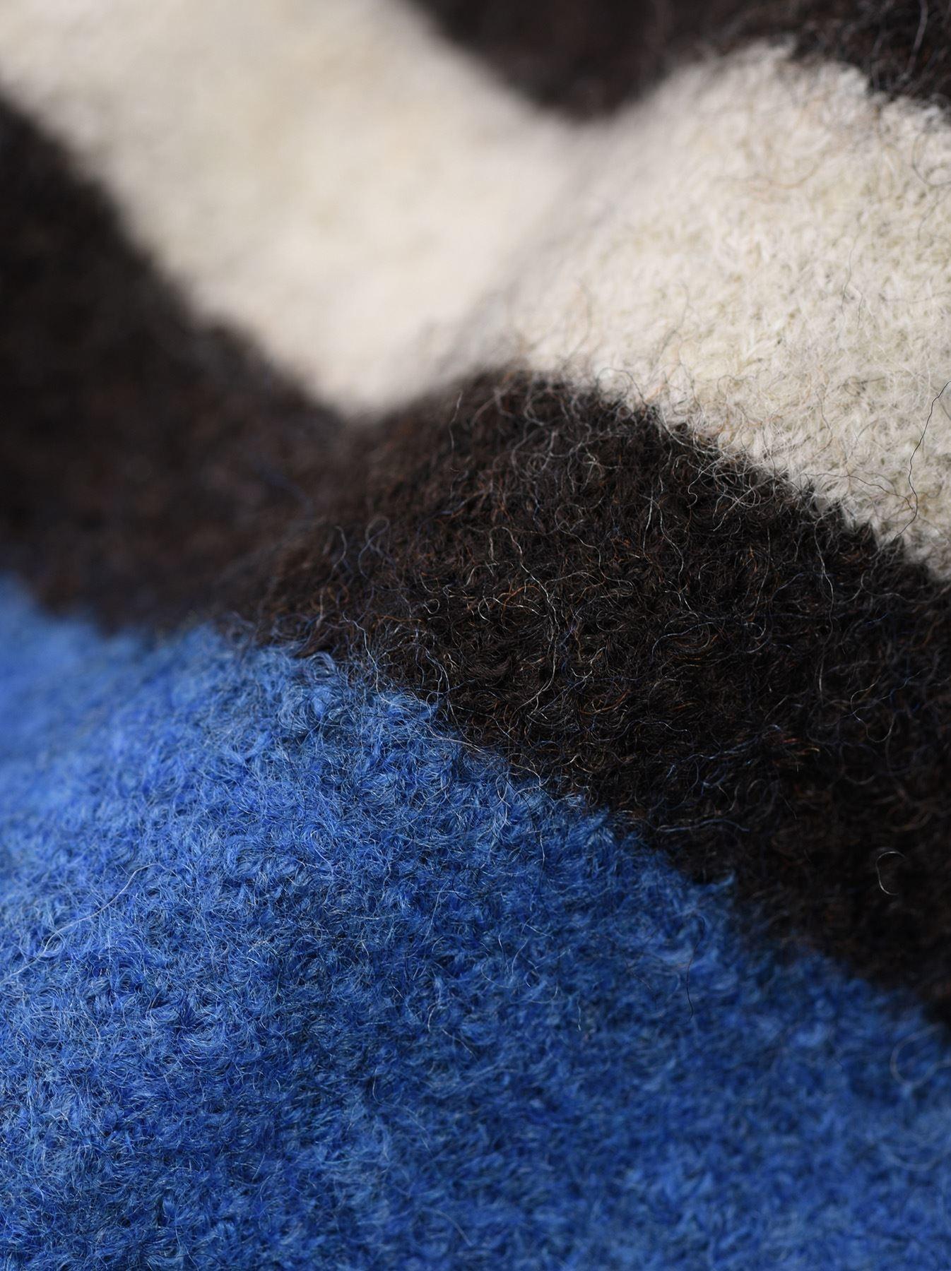 WH Arles Boiled Wool Stripe Big Tunic-8