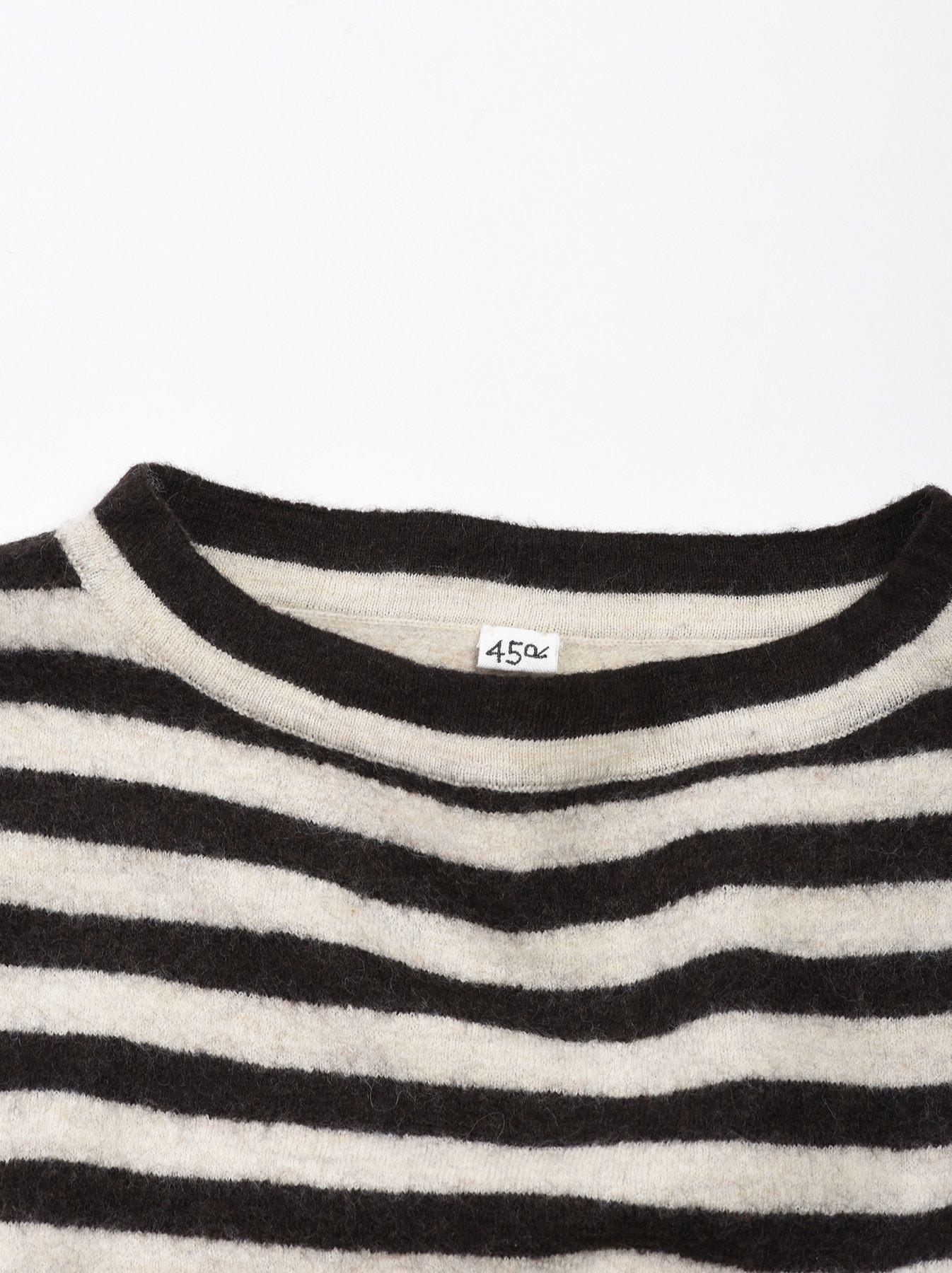 WH Arles Boiled Wool Stripe Big Tunic-9