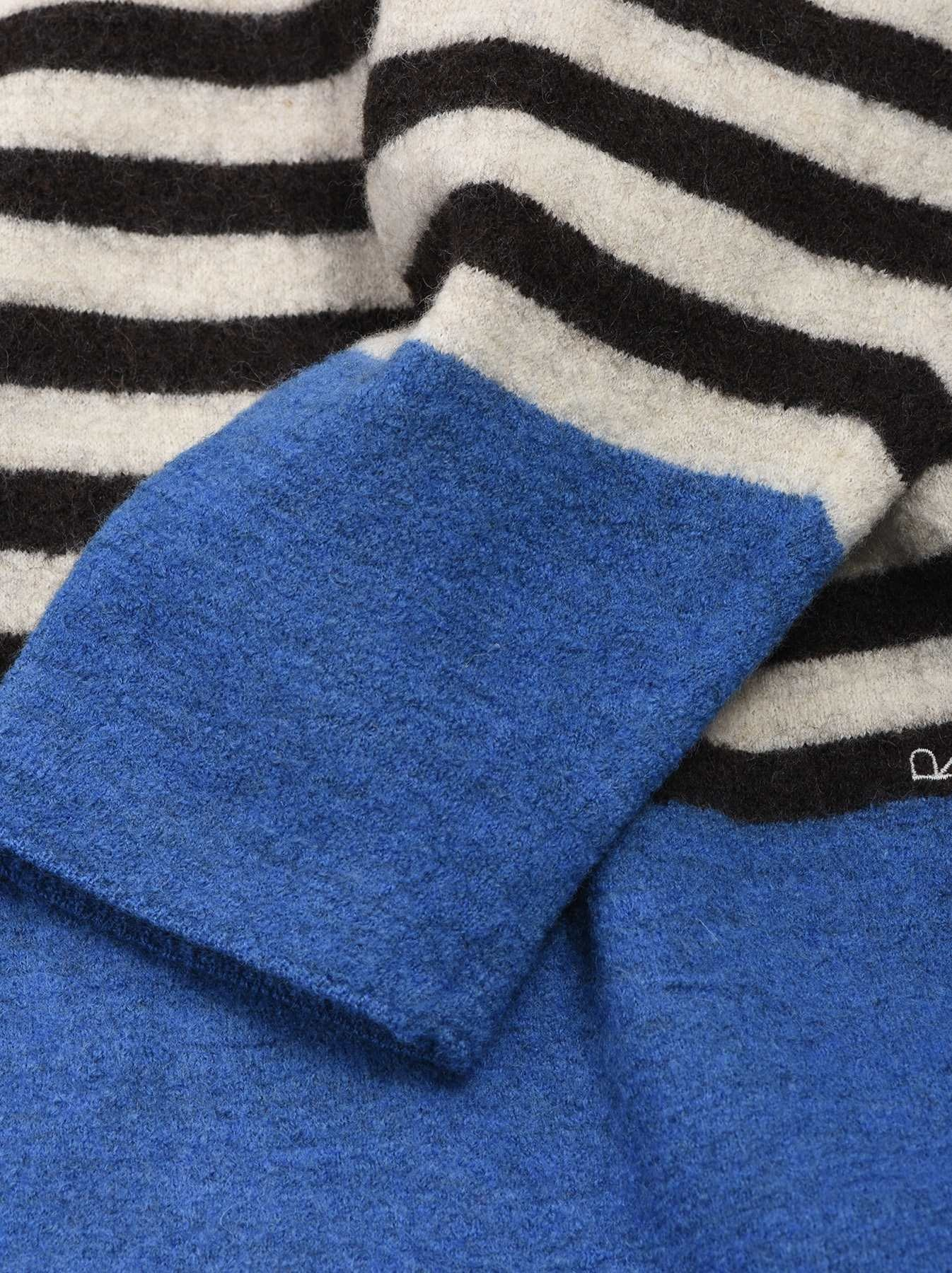 WH Arles Boiled Wool Stripe Big Tunic-10