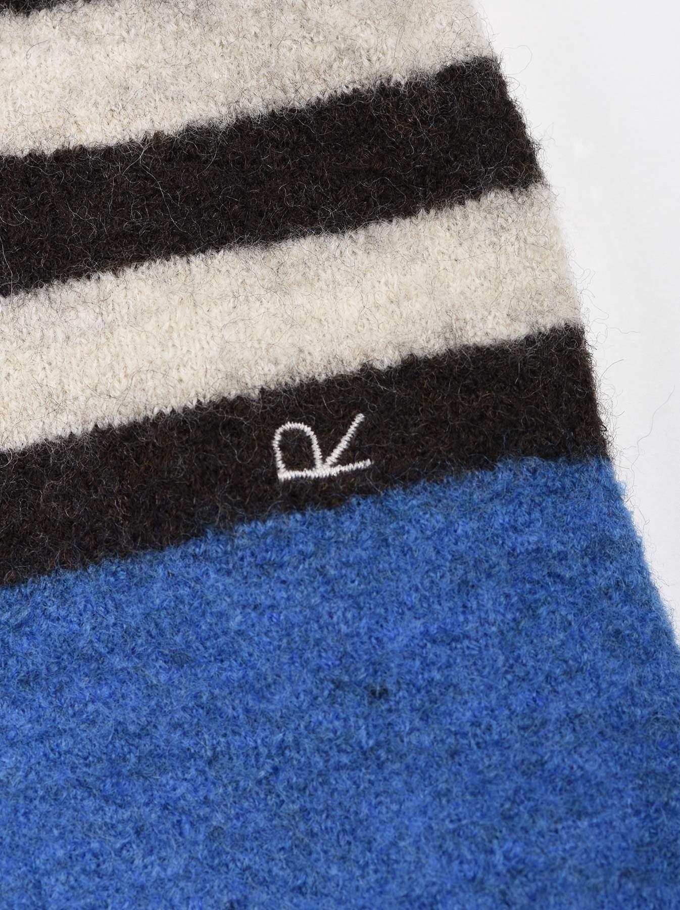 WH Arles Boiled Wool Stripe Big Tunic-11