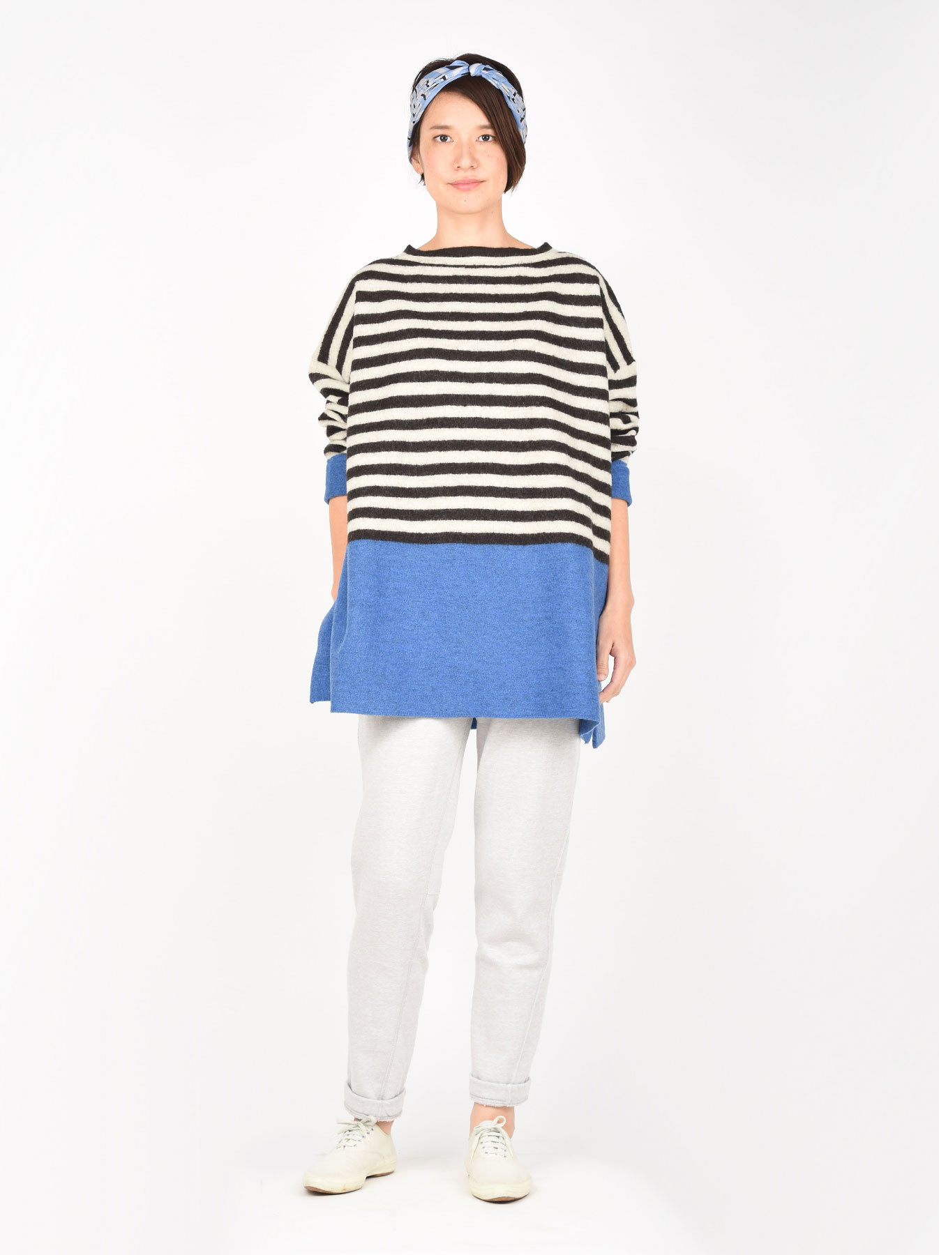 WH Arles Boiled Wool Stripe Big Tunic-4