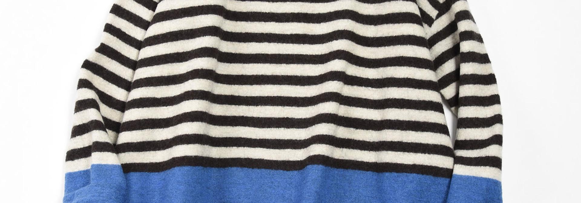 WH Arles Boiled Wool Stripe Big Tunic