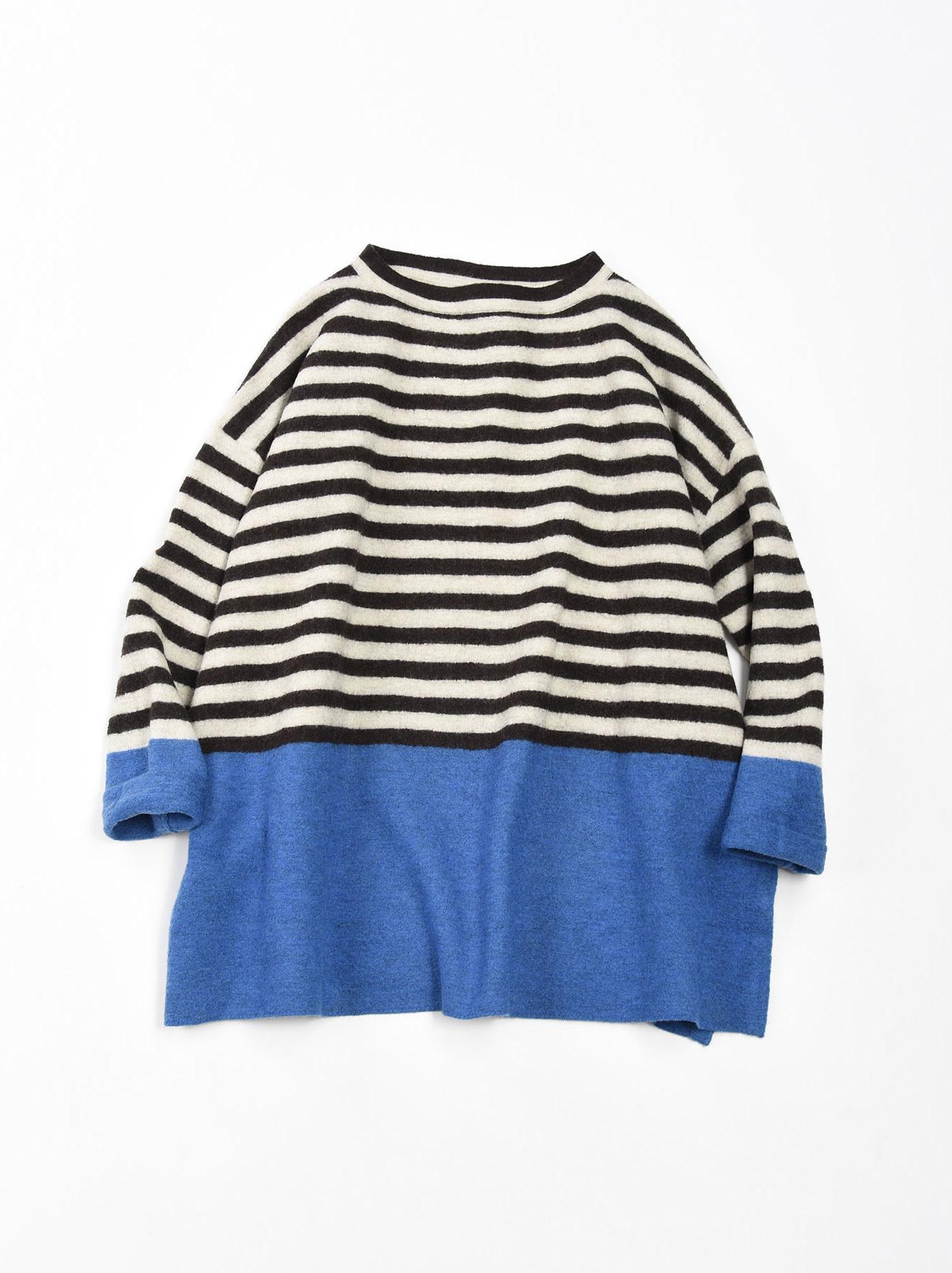 WH Arles Boiled Wool Stripe Big Tunic-1