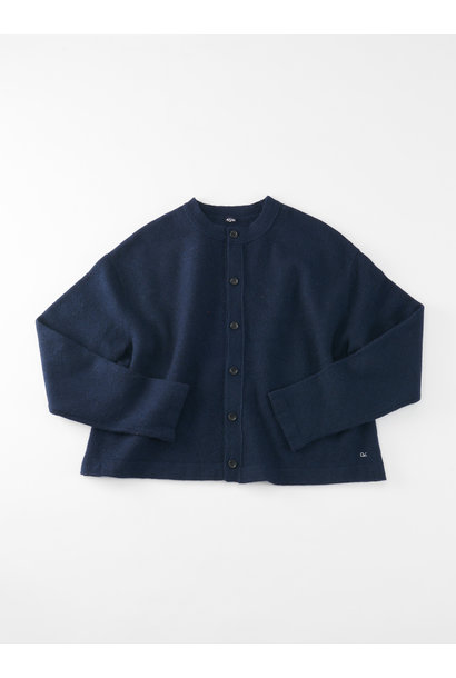 WH Boiled Puff Sleeve Cardigan