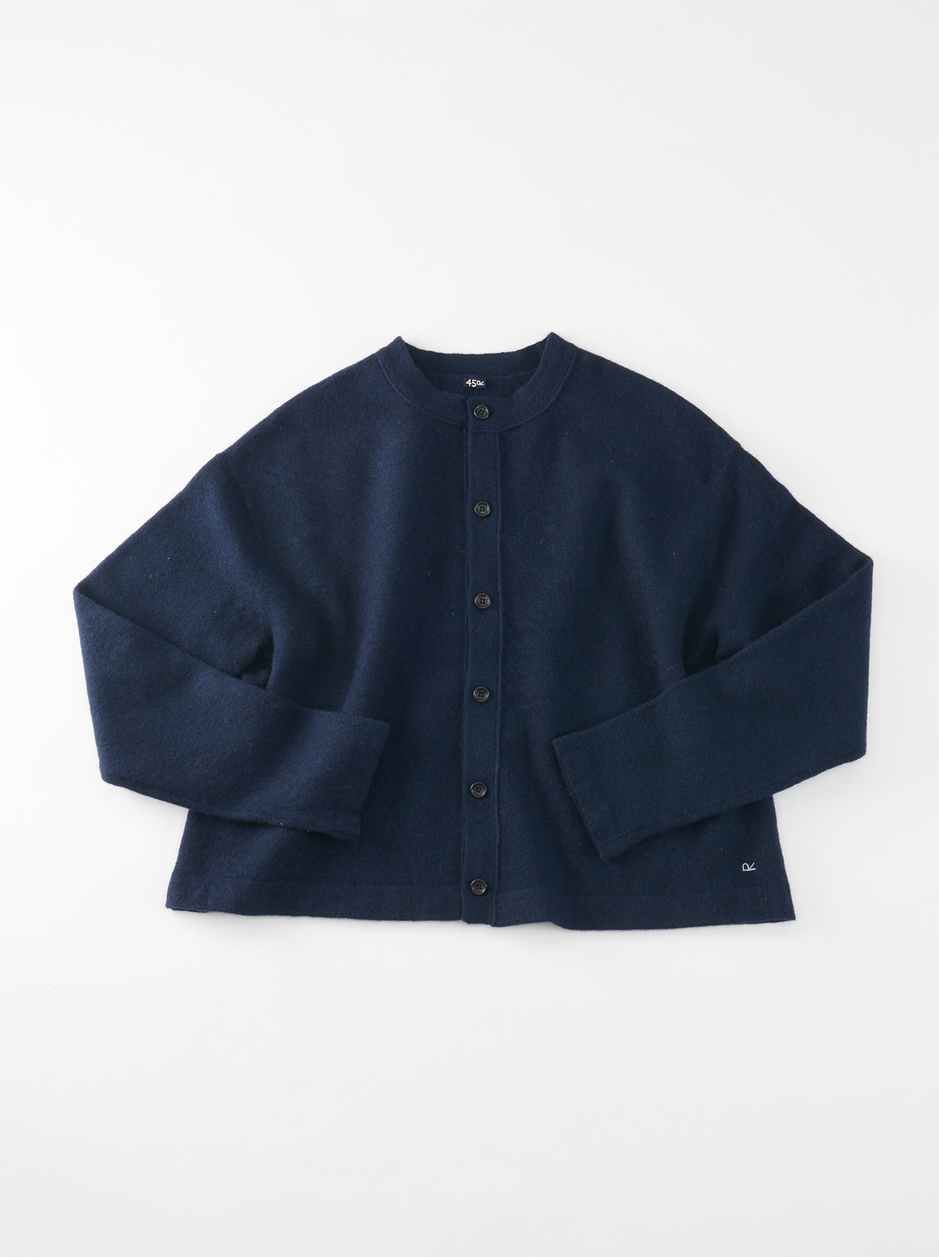 WH Boiled Puff Sleeve Cardigan-1