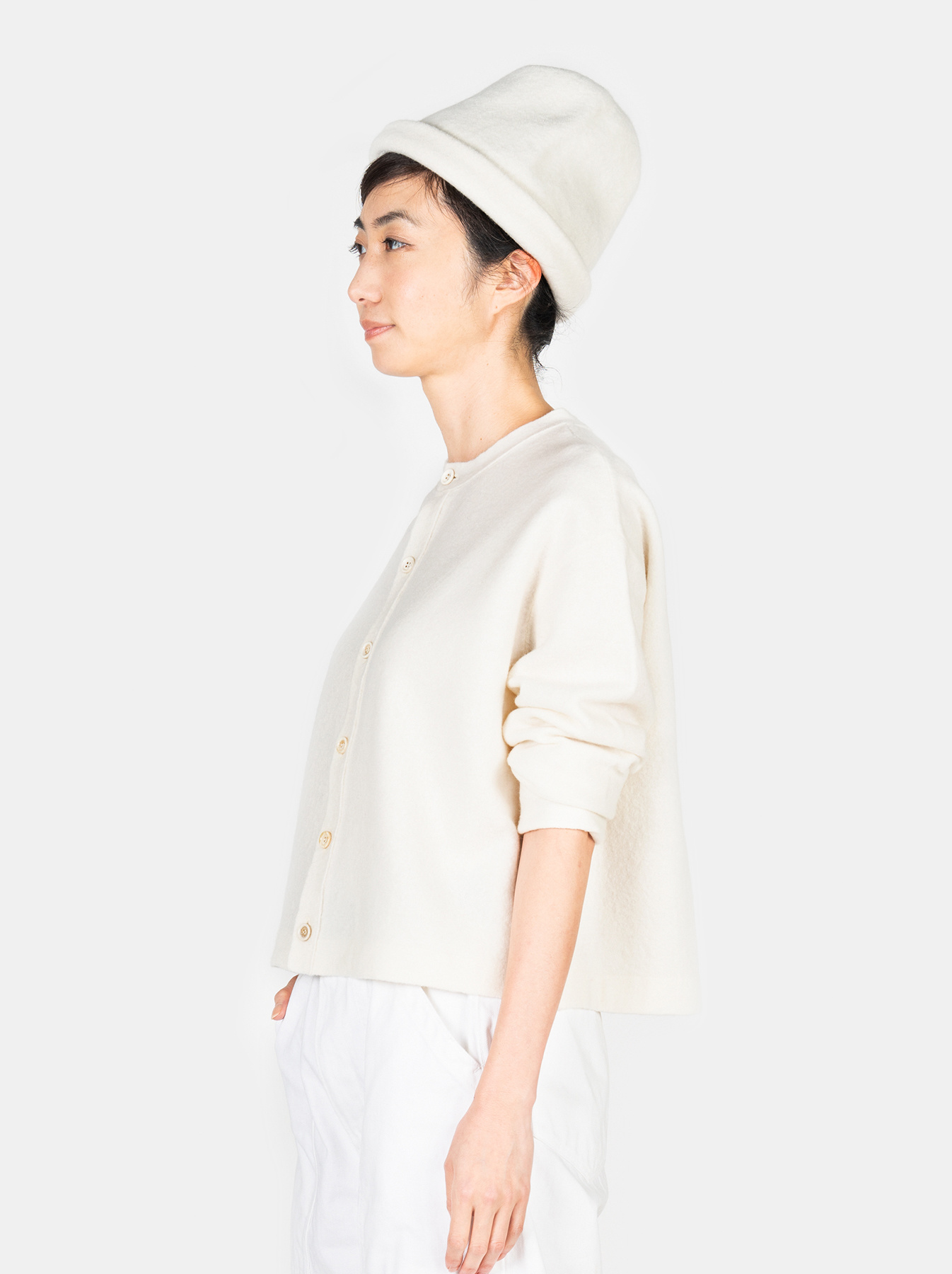 WH Boiled Puff Sleeve Cardigan-4