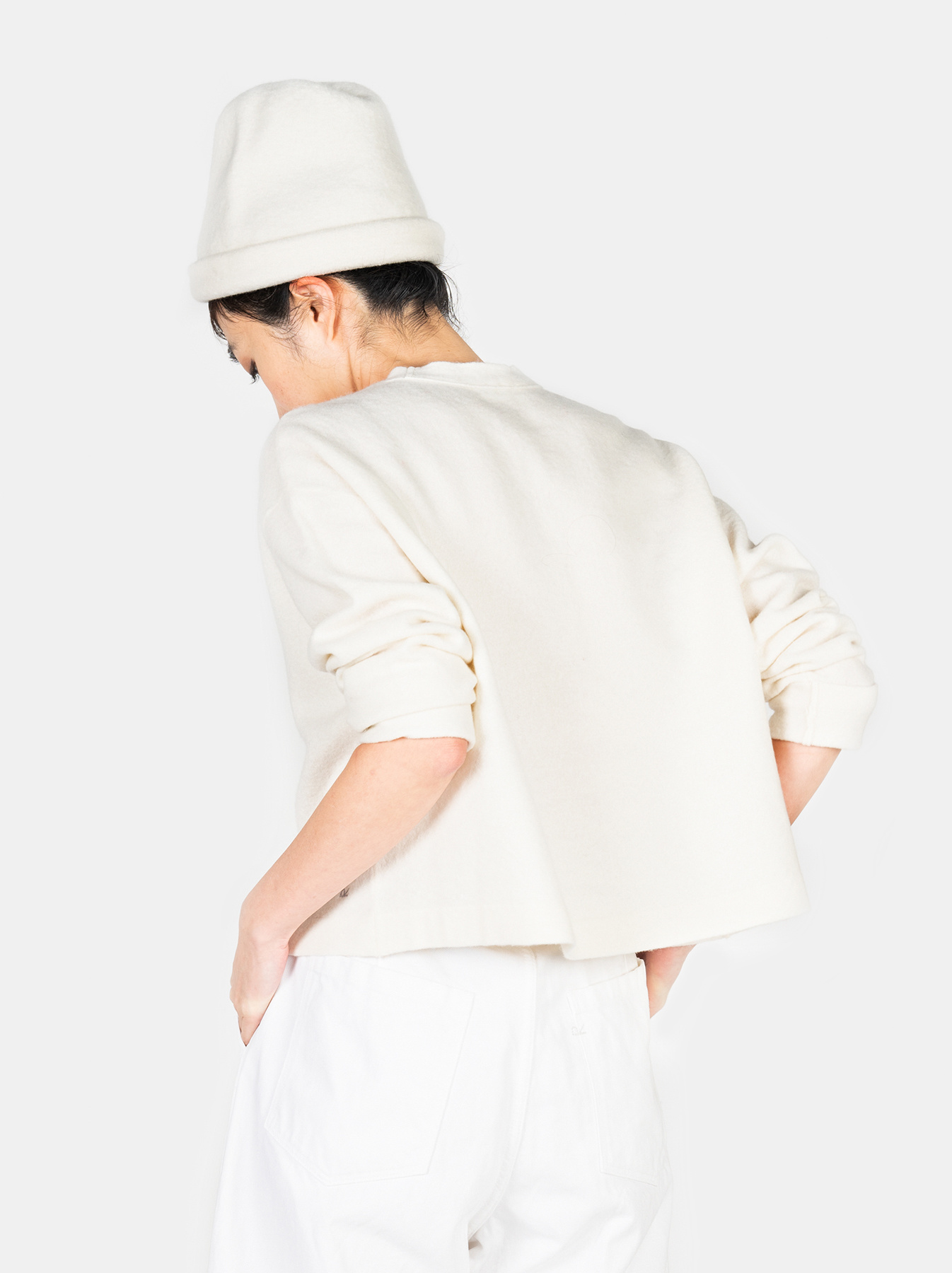 WH Boiled Puff Sleeve Cardigan-5