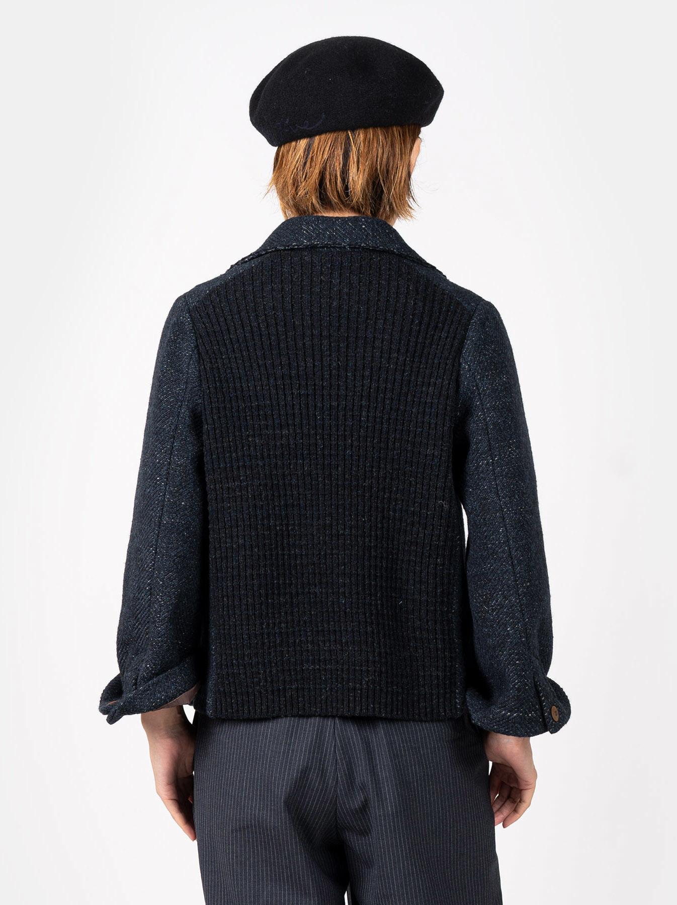 Mixed Tweed Knit Jacket-5