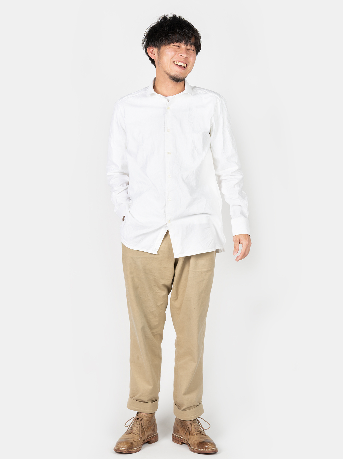 WH Oxford 908 Round Collar Shirt-2