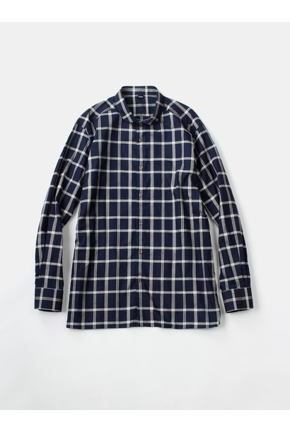 WH Indigo Oxford 908 Round Collar Shirt