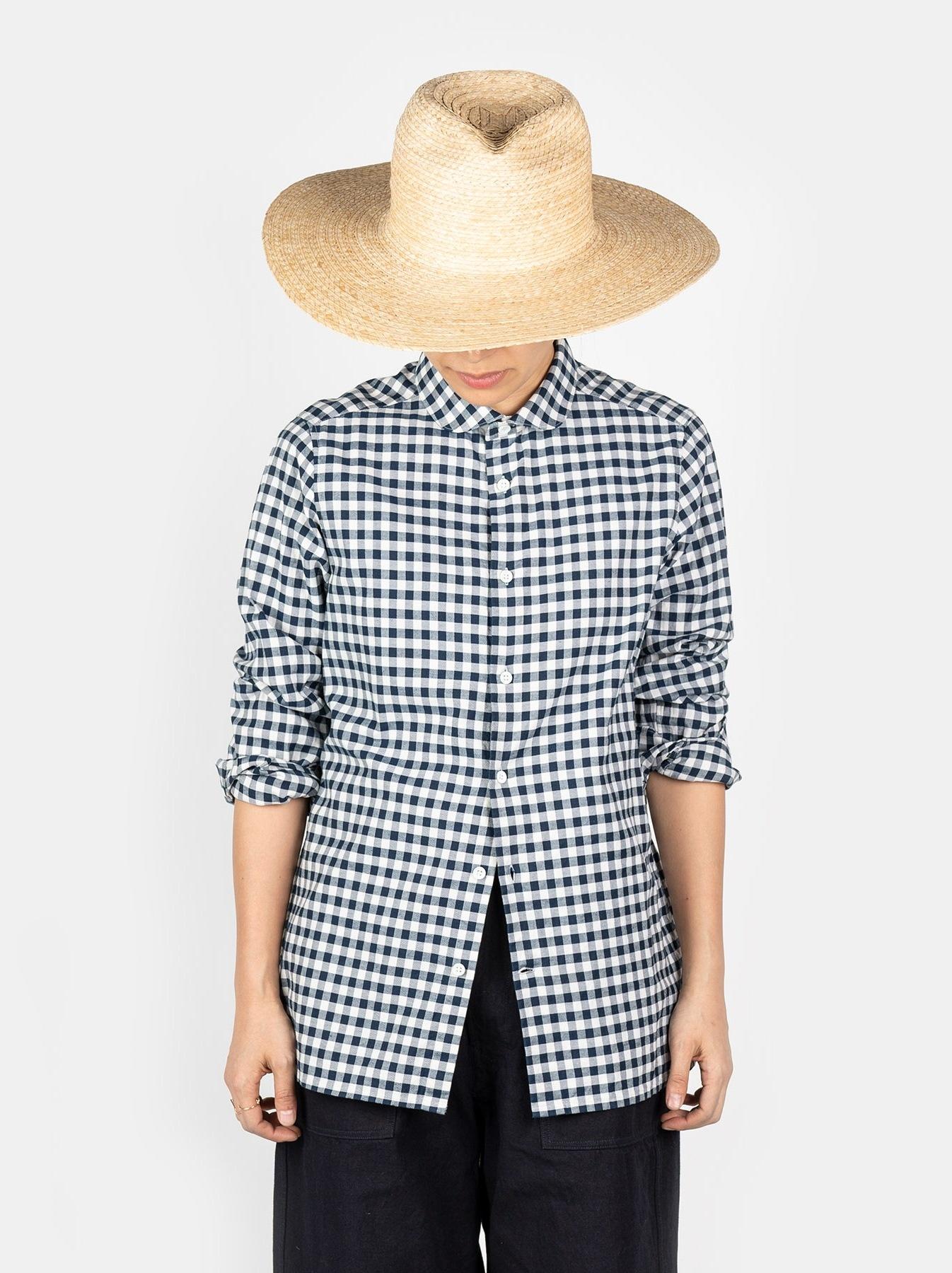WH Indigo Oxford 908 Round Collar Shirt-5