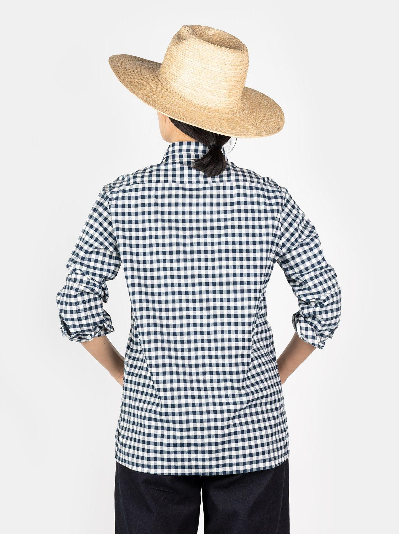 WH Indigo Oxford 908 Round Collar Shirt-7