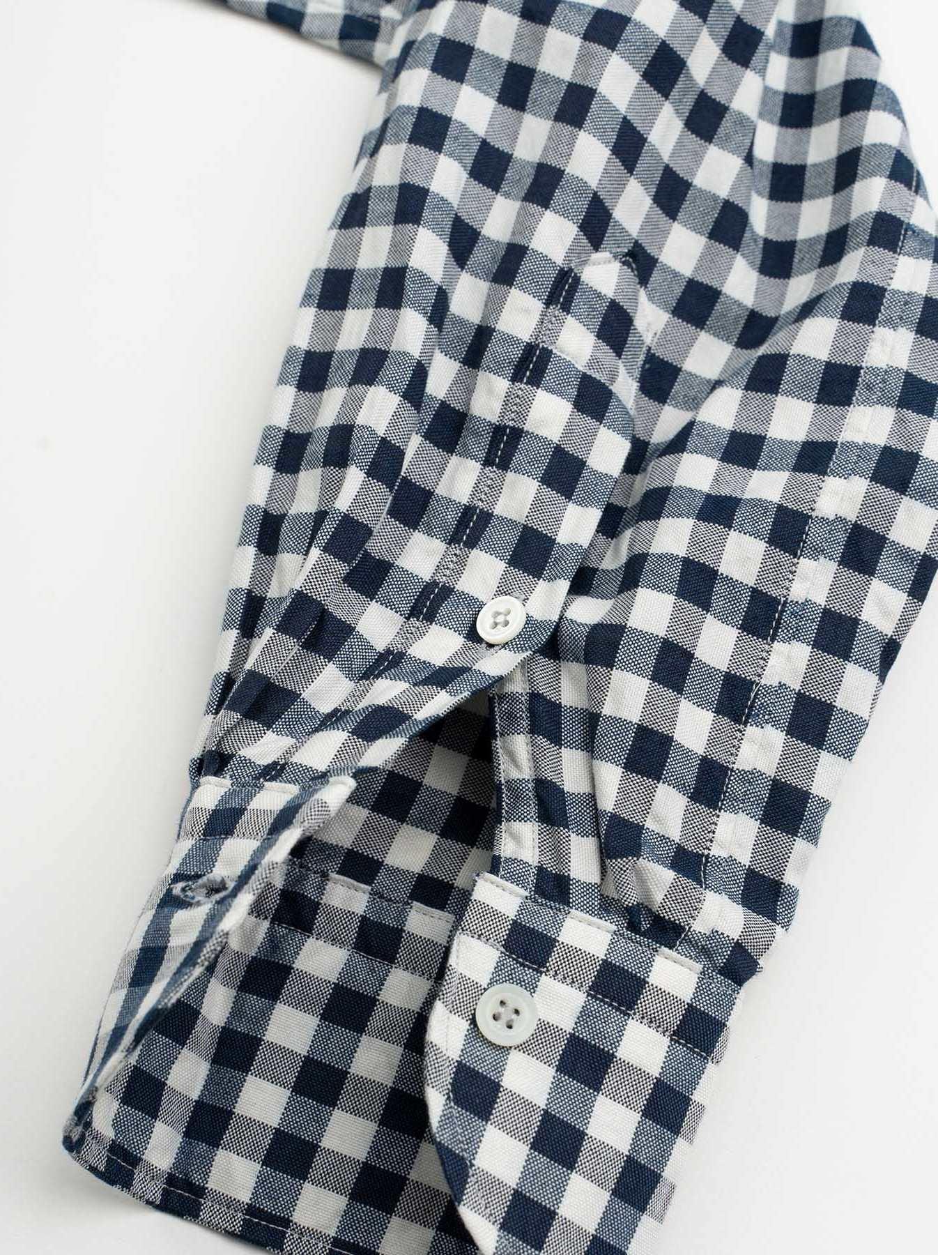 WH Indigo Oxford 908 Round Collar Shirt-9