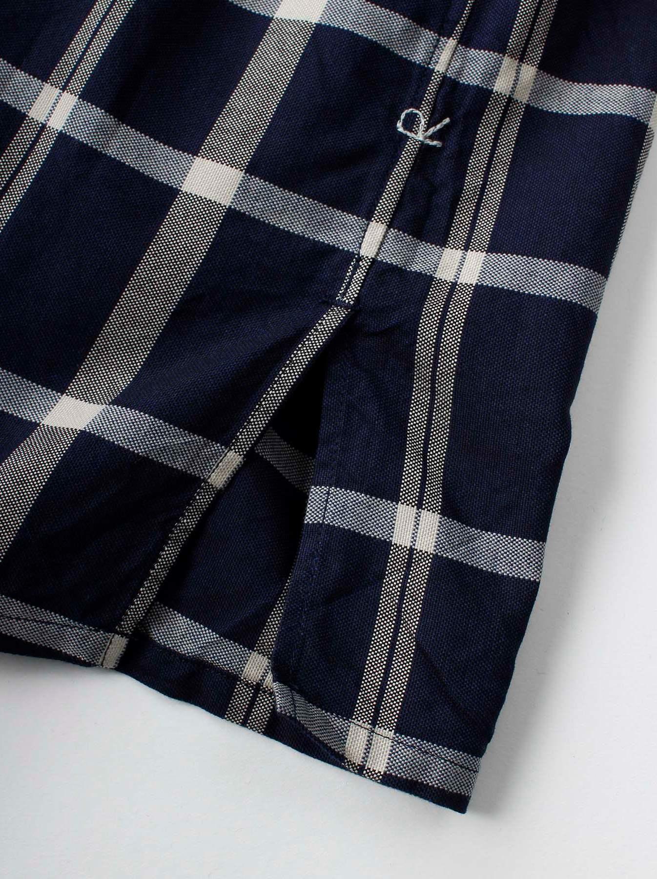WH Indigo Oxford 908 Round Collar Shirt-10