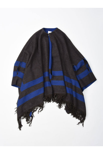 WH Float Knit Boiled Poncho