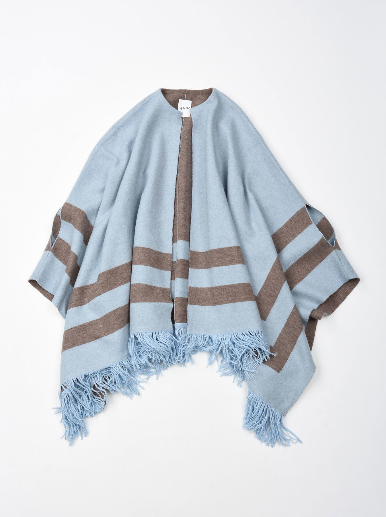 WH Float Knit Boiled Poncho-5