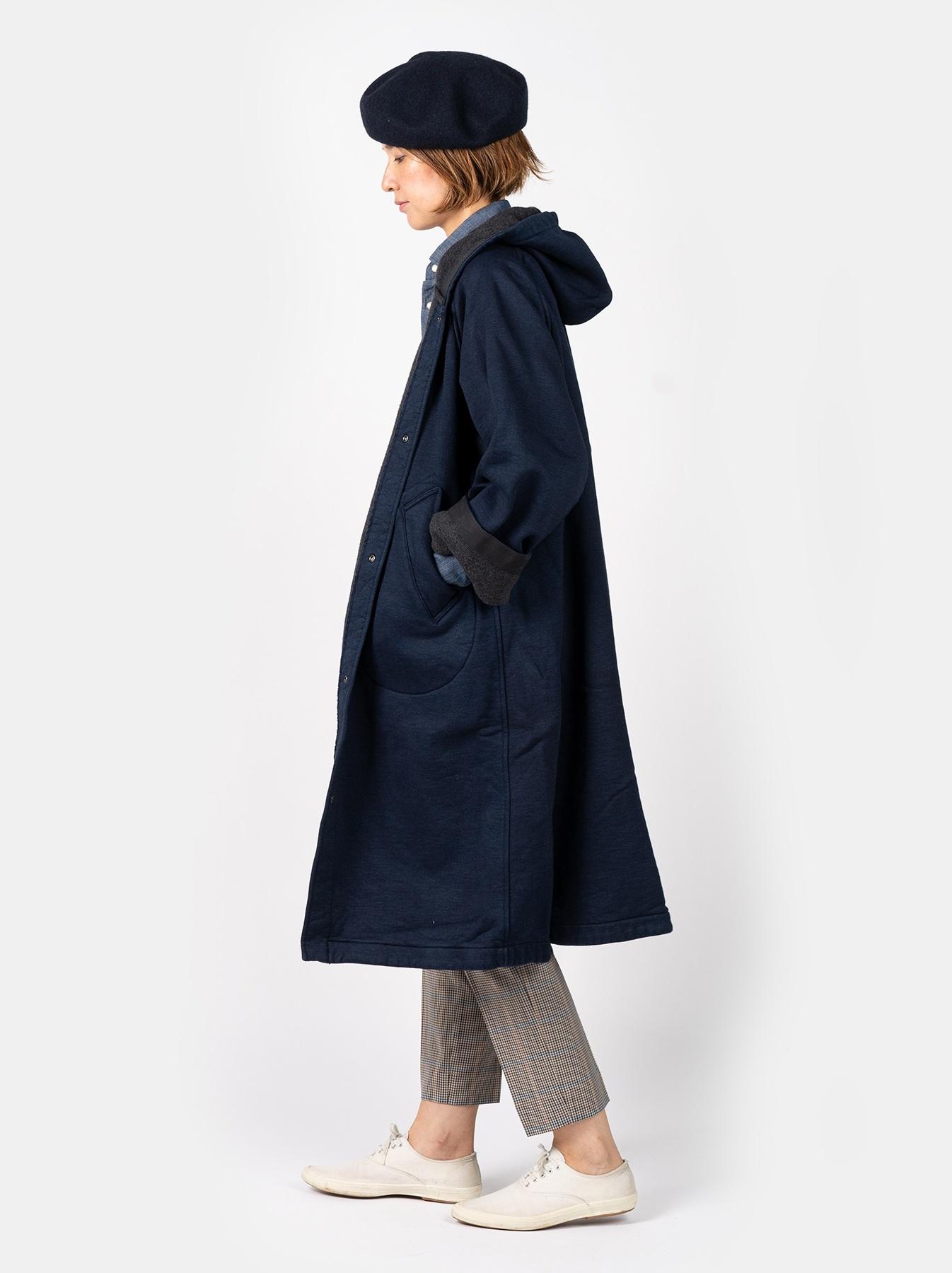 WH Indigo Mouton Fleecy 908 Hoodie Coat-3
