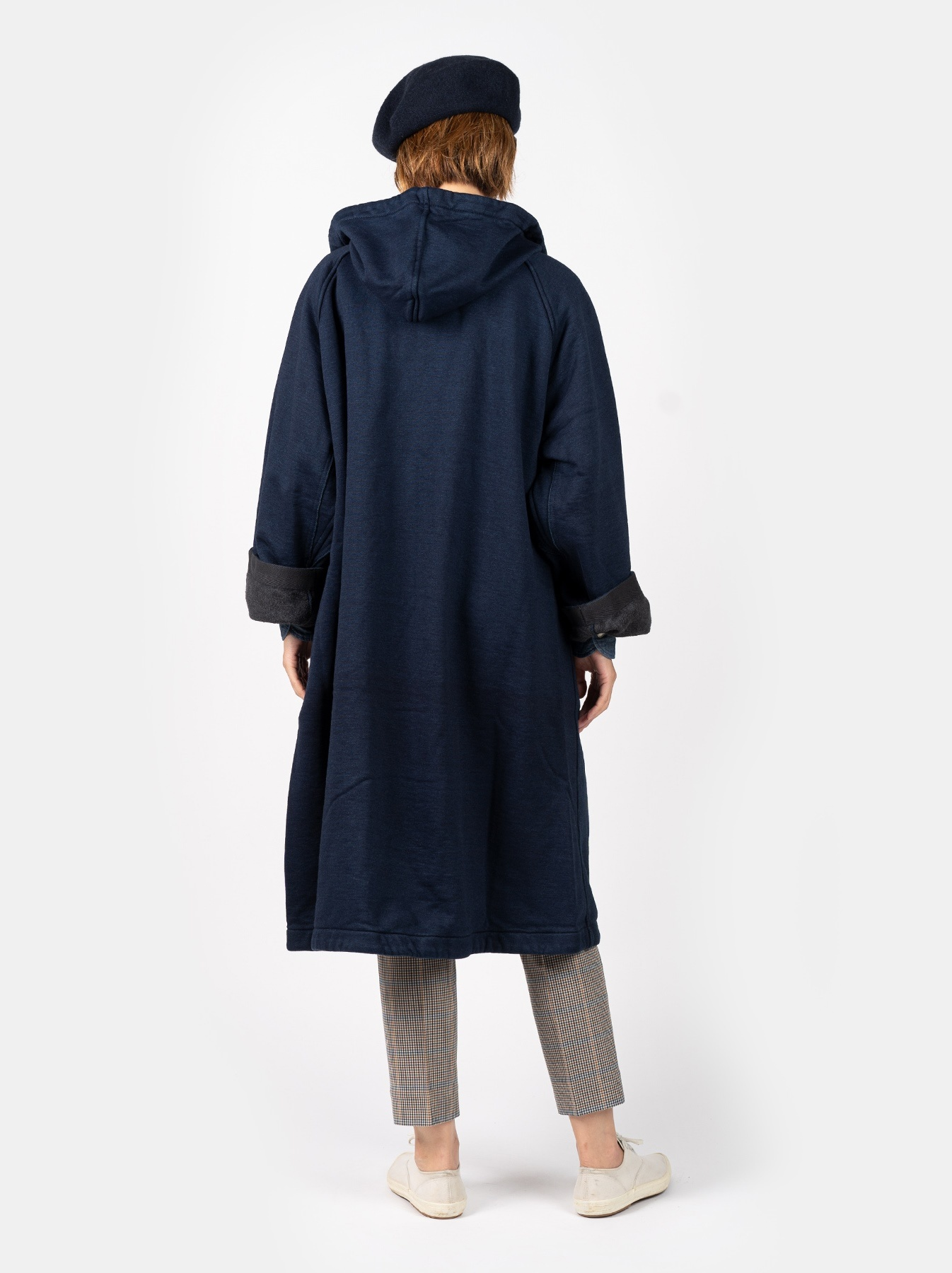 WH Indigo Mouton Fleecy 908 Hoodie Coat-4