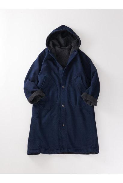 WH Indigo Mouton Fleecy 908 Hoodie Coat