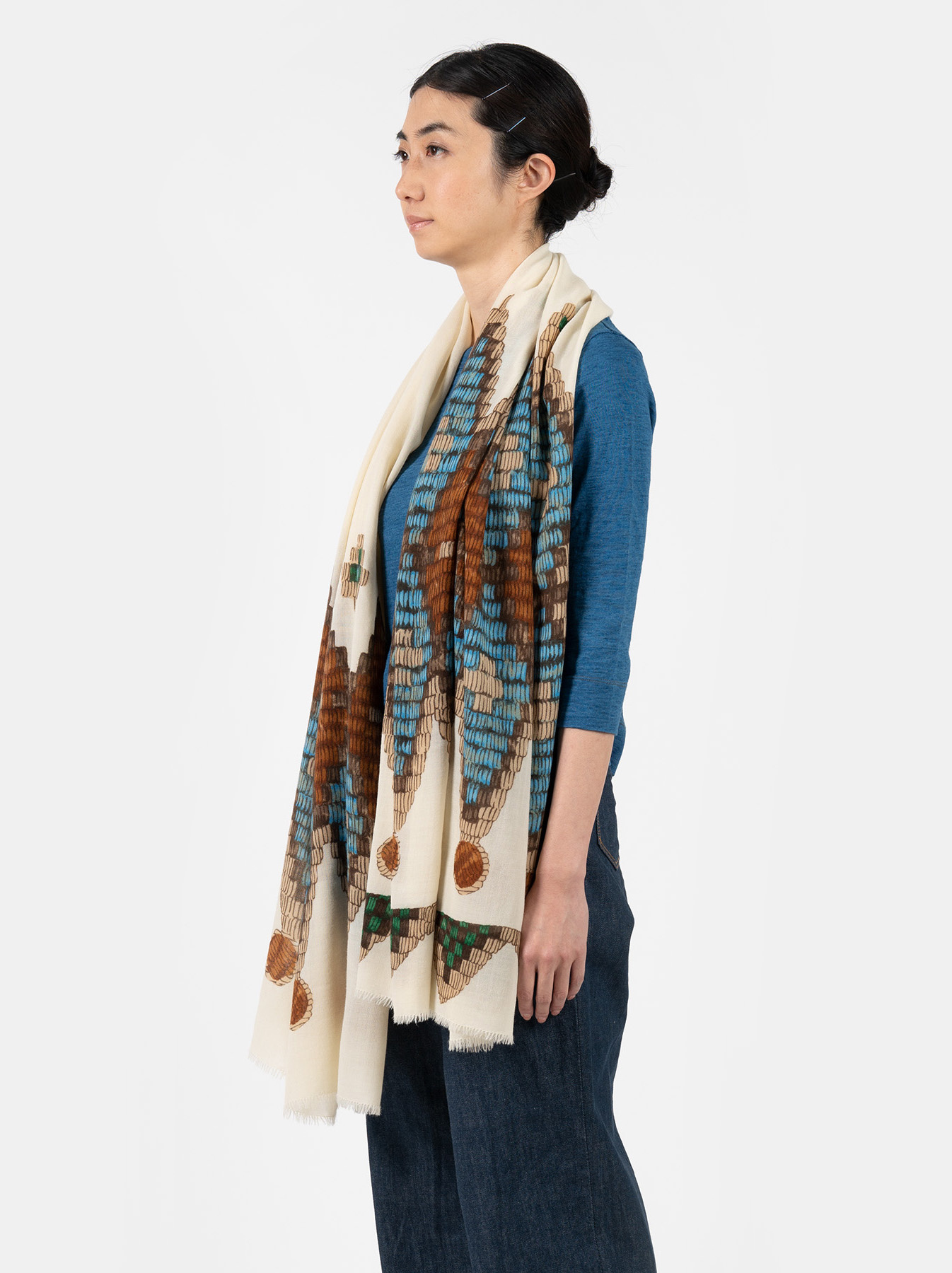 WH Rug Printed Stole-2