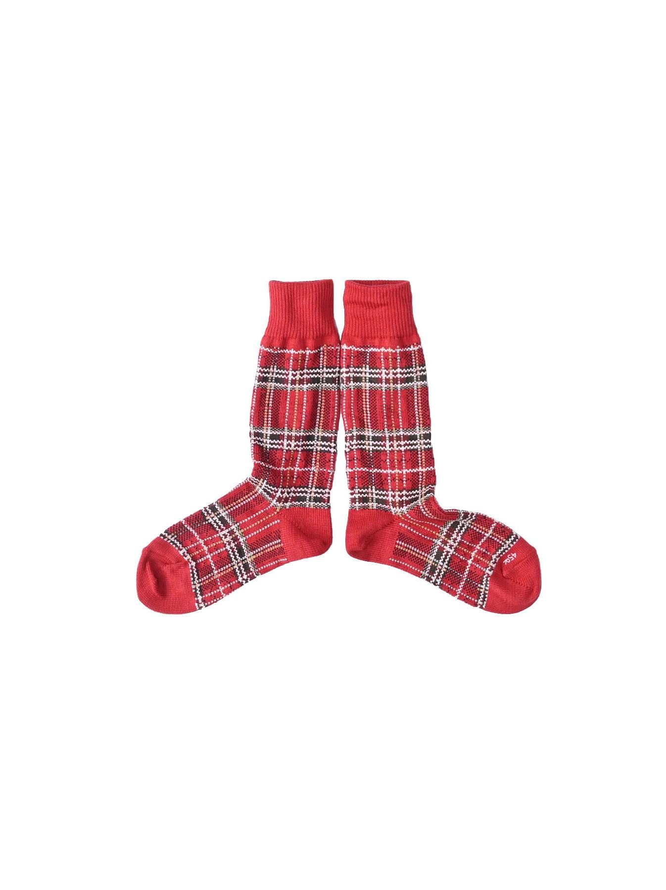Plaid Knit Socks-2