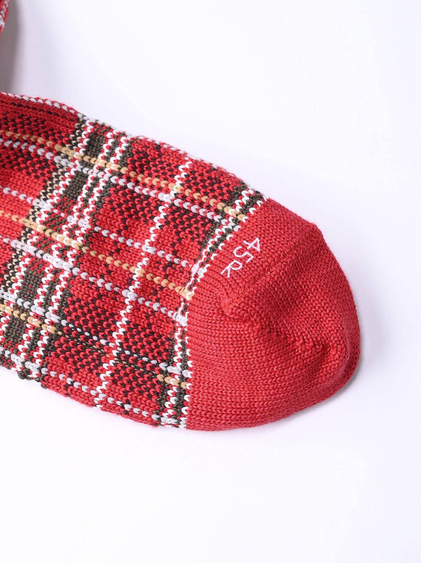 Plaid Knit Socks-3