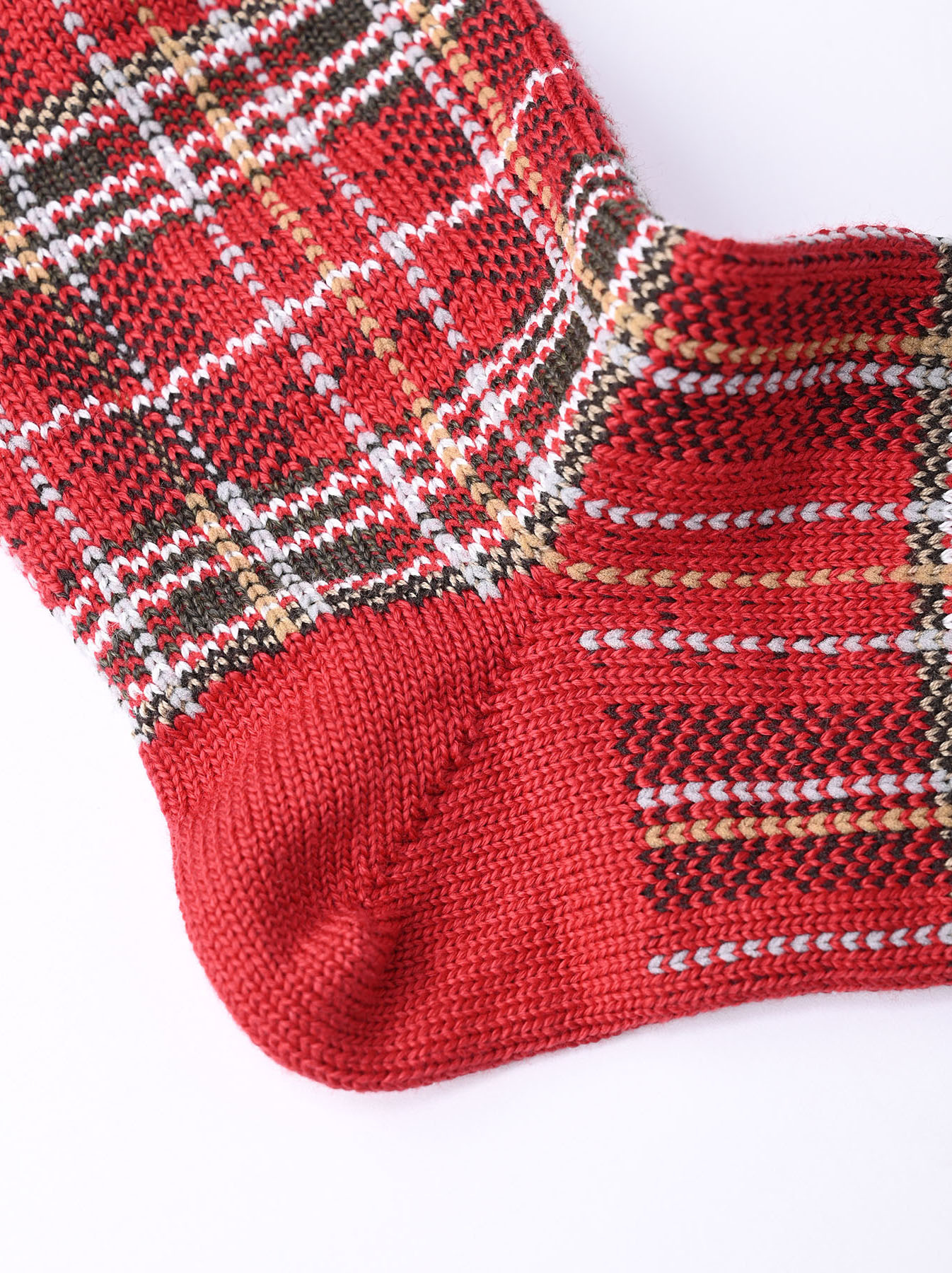 Plaid Knit Socks-4