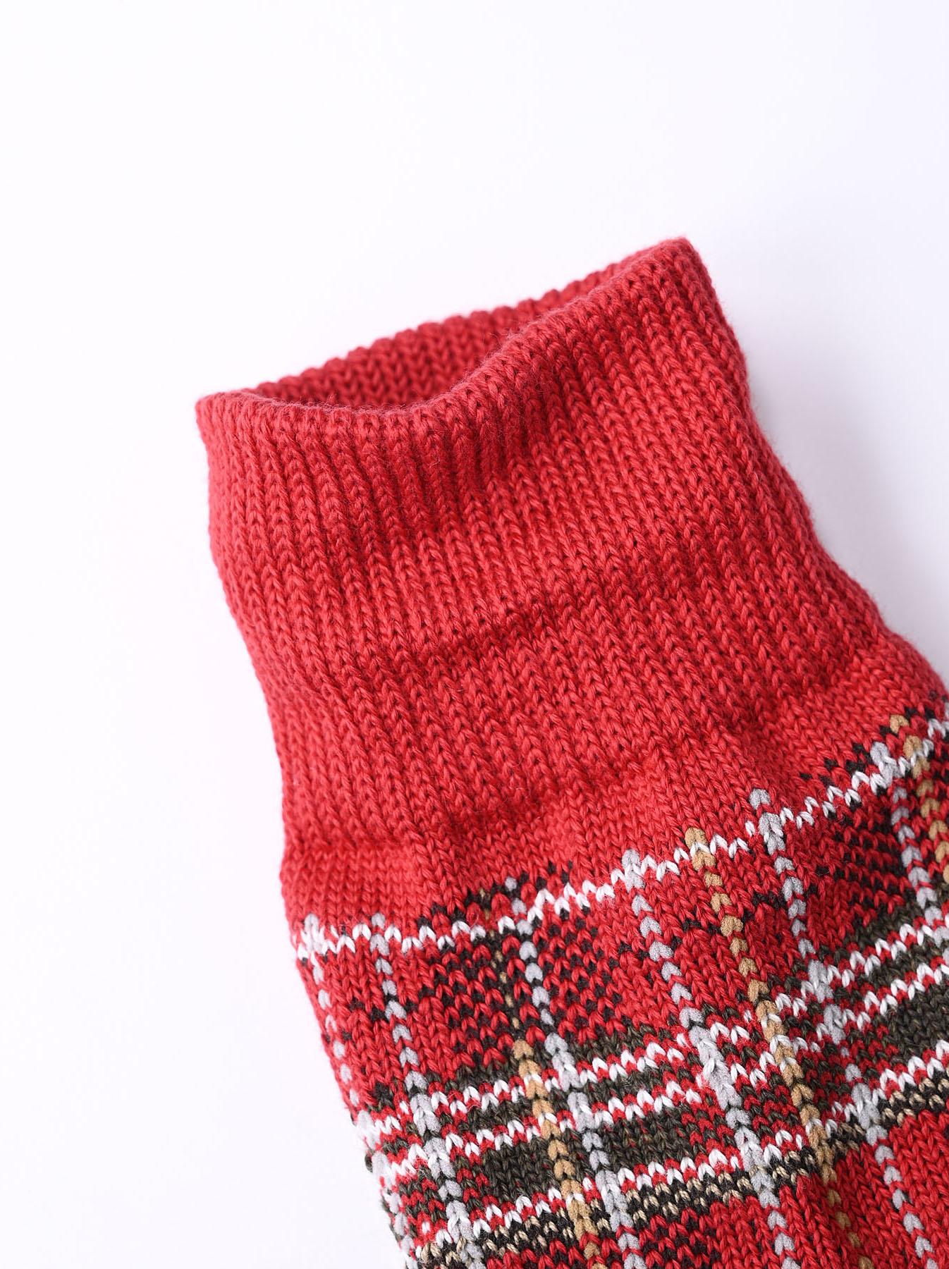 Plaid Knit Socks-5