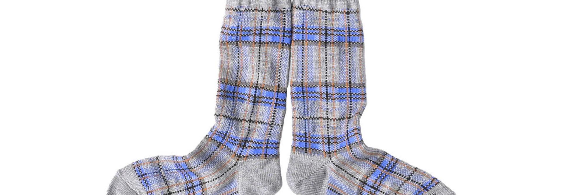 Plaid Knit Socks