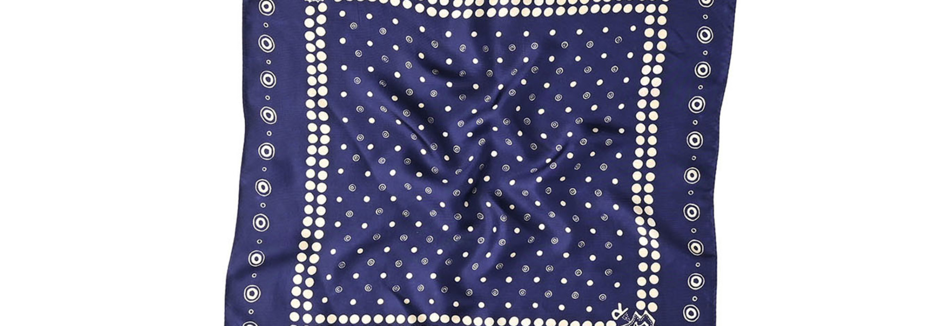 Silk Dots Charm Bandana (1220)