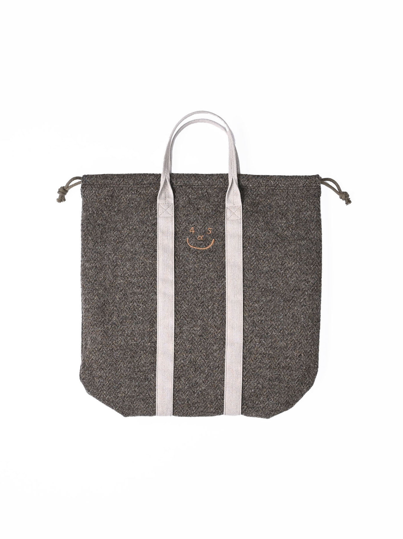 Tweed Knit and Nylon Tote Bag-4