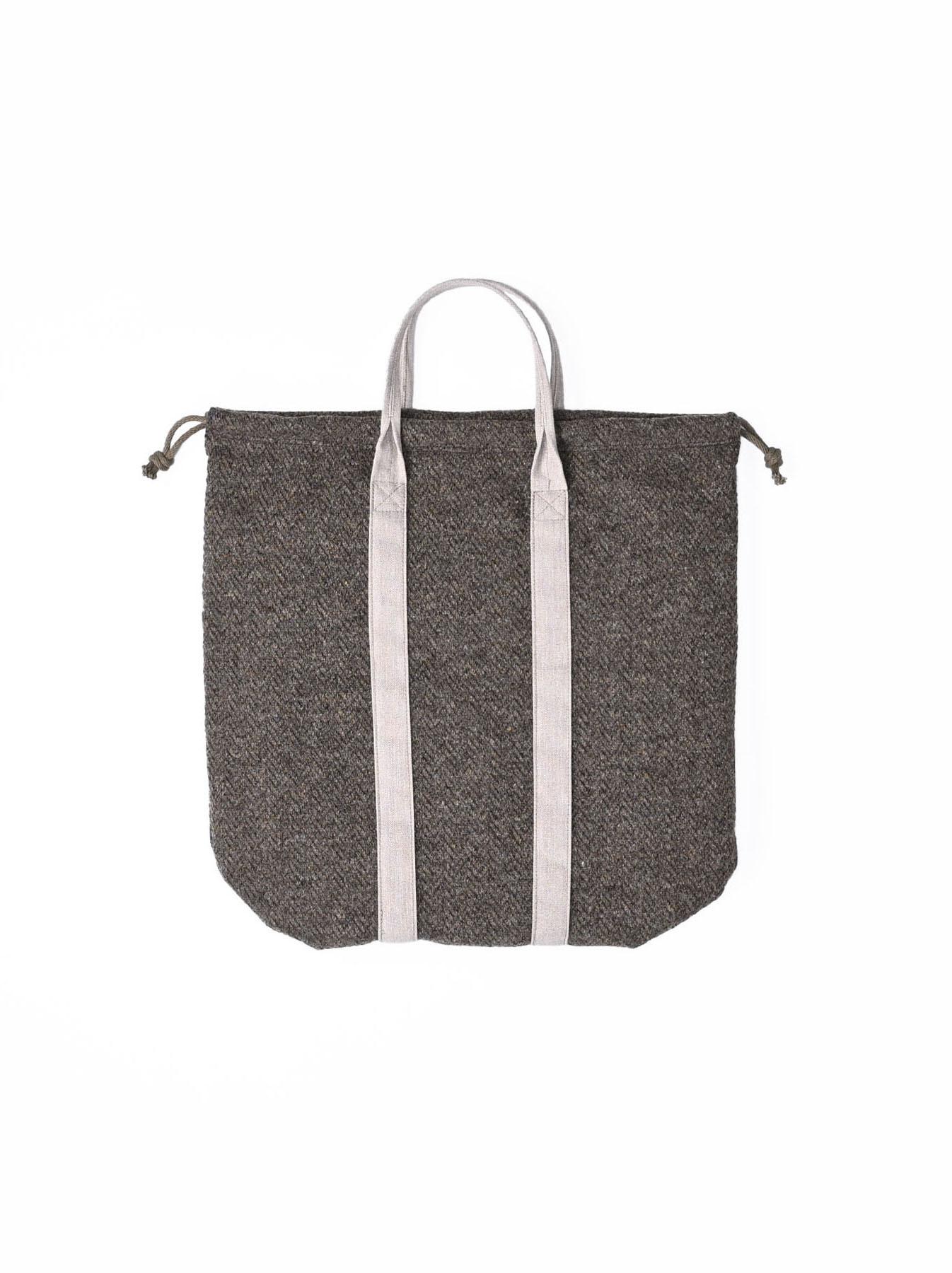 Tweed Knit and Nylon Tote Bag-5