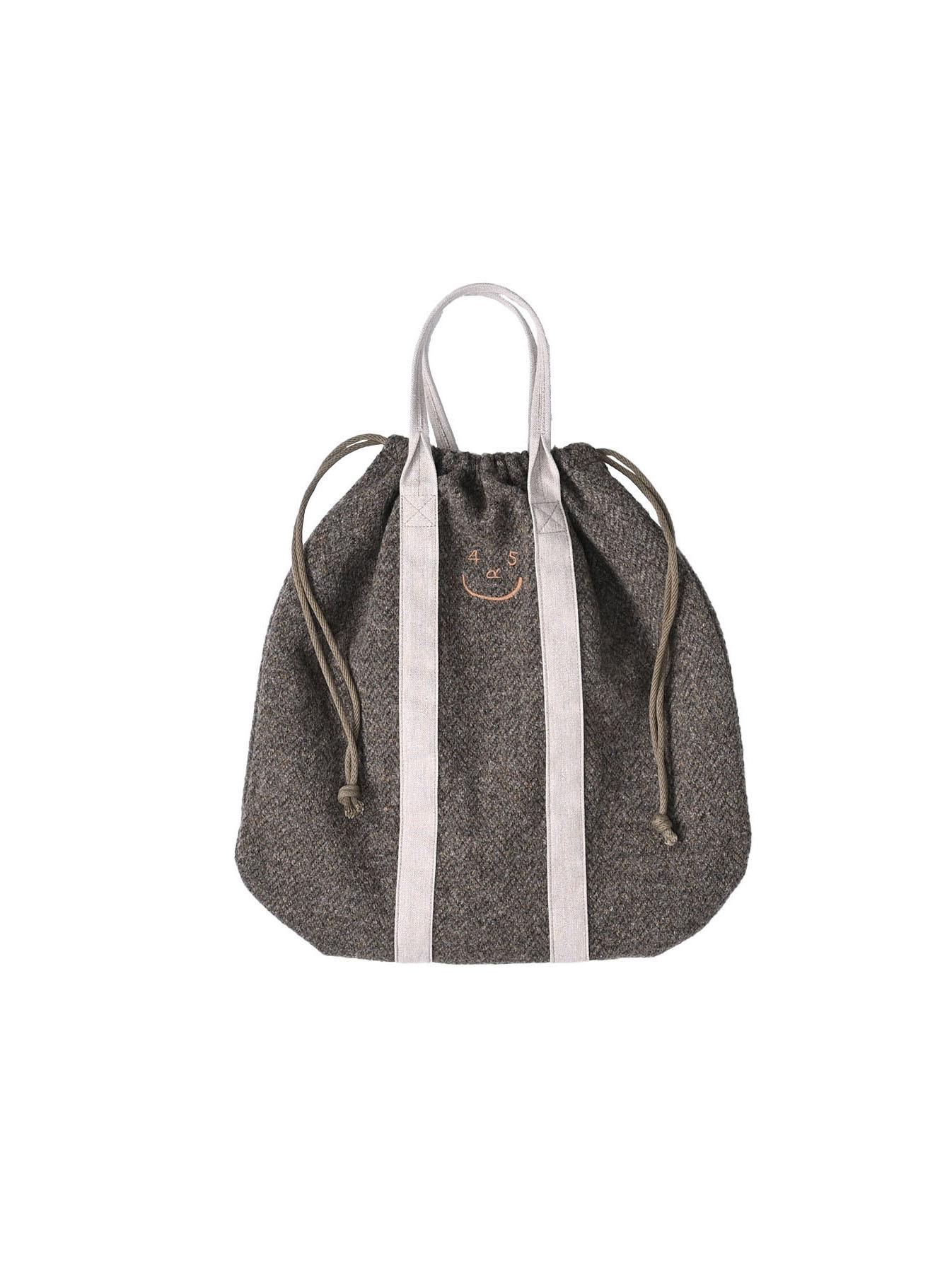 Tweed Knit and Nylon Tote Bag-3