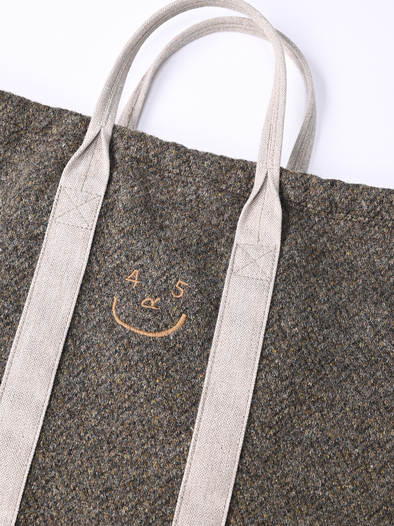 Tweed Knit and Nylon Tote Bag-6