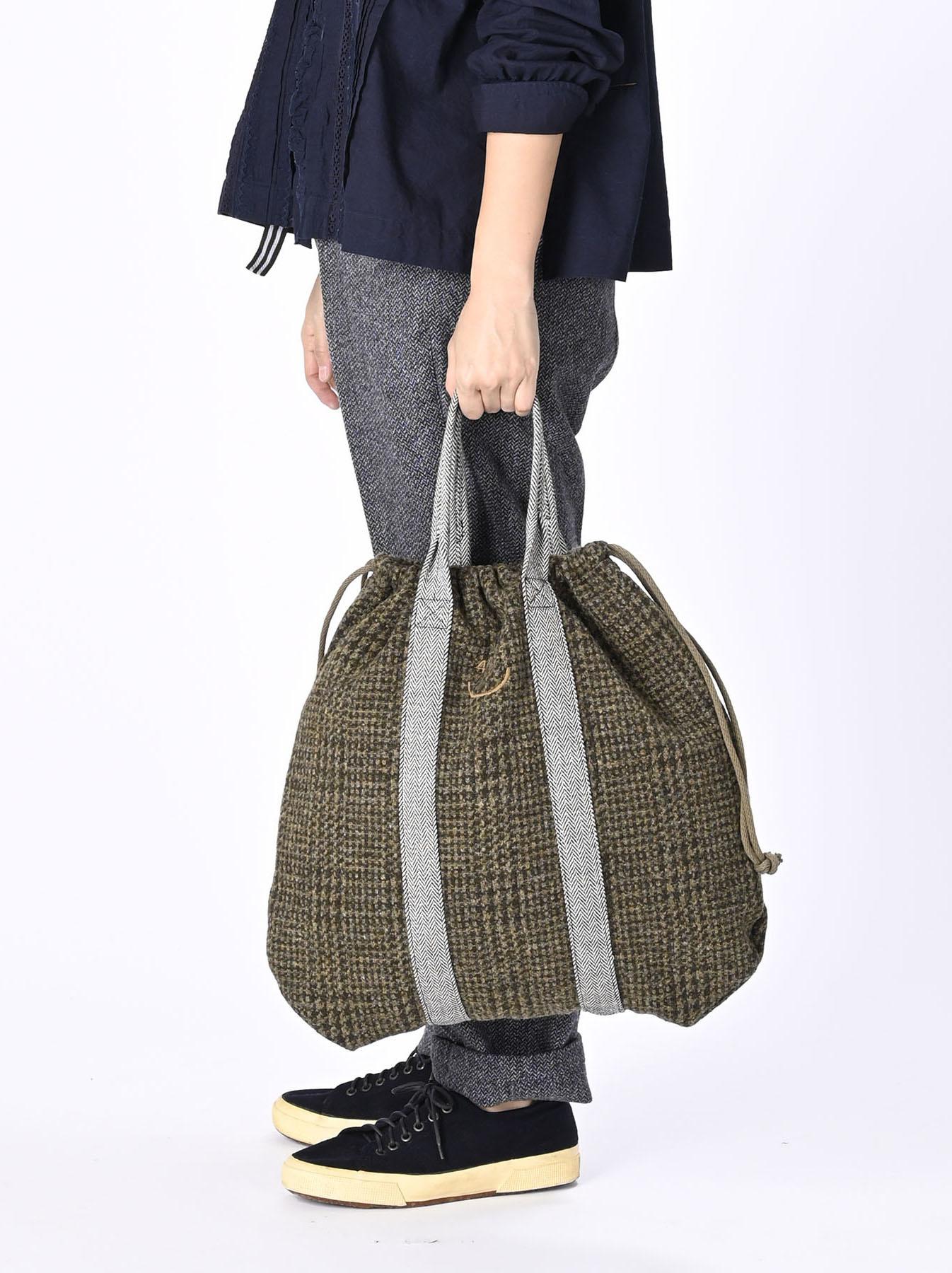 Tweed Knit and Nylon Tote Bag-2