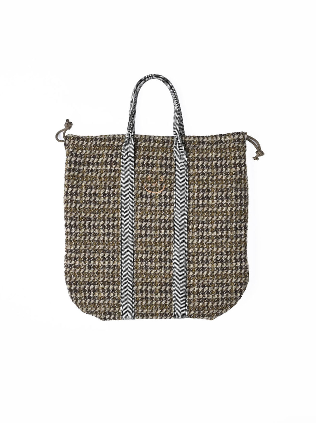 Tweed Knit and Nylon Tote Bag-1