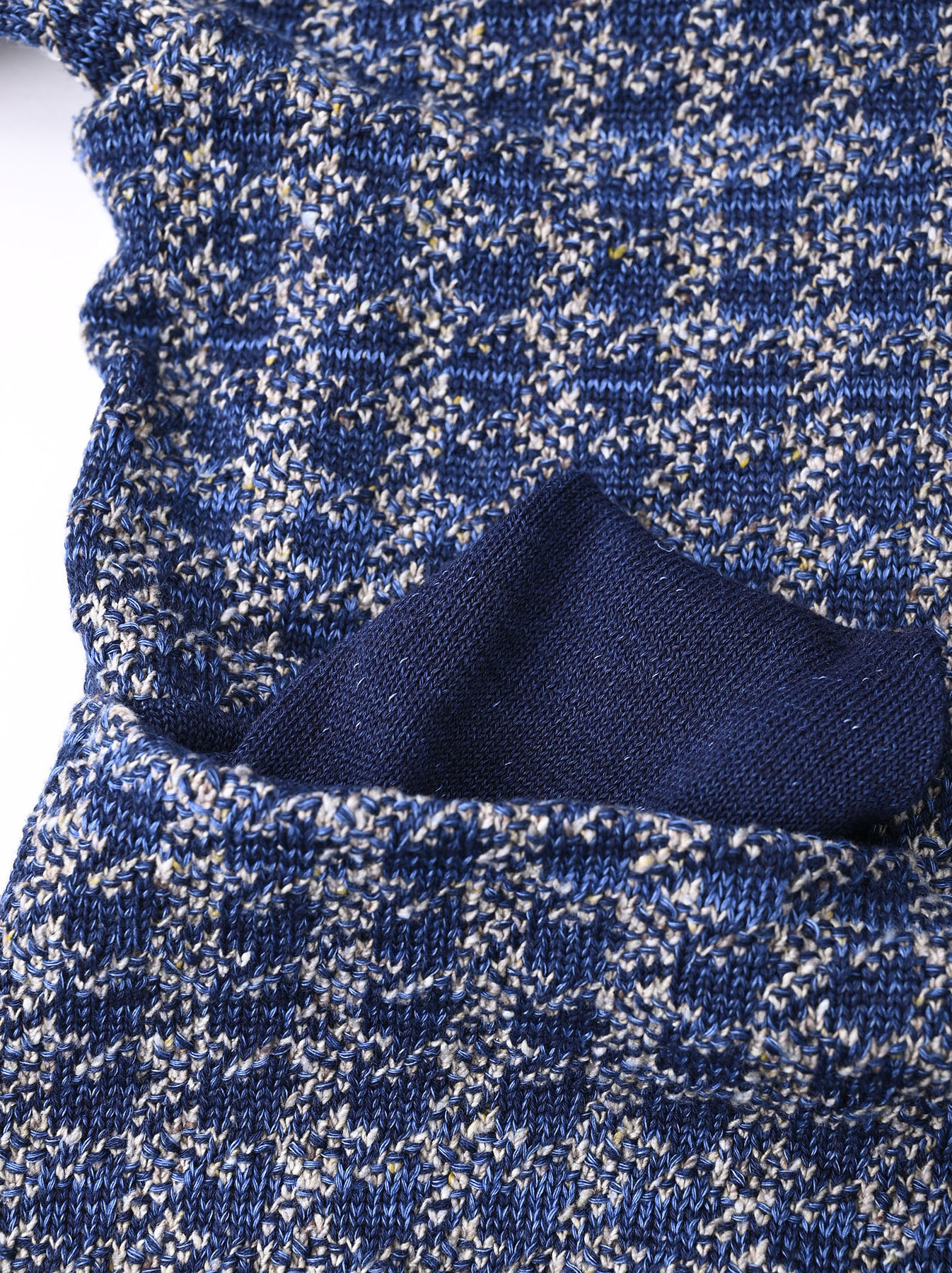 Indigo Knit Jacquard 908 Umahiko Sweater-7