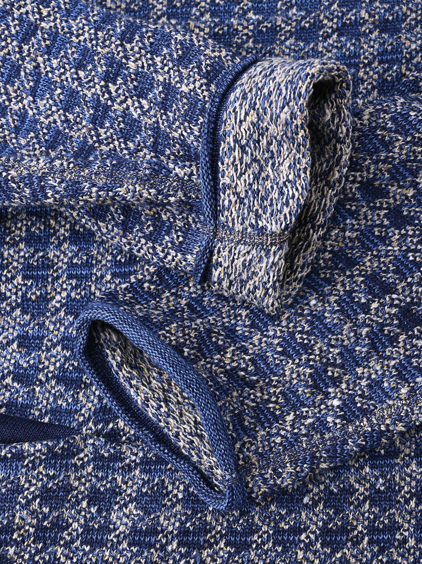 Indigo Knit Jacquard 908 Umahiko Sweater-8
