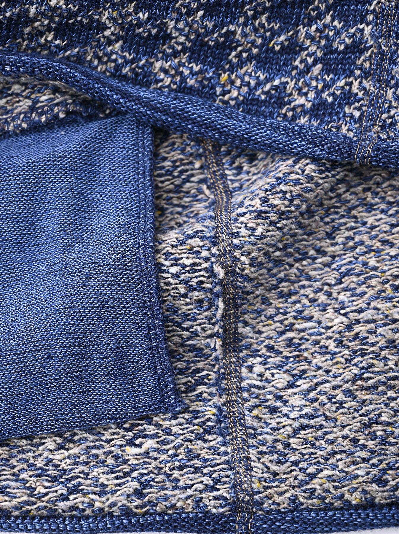 Indigo Knit Jacquard 908 Umahiko Sweater-9