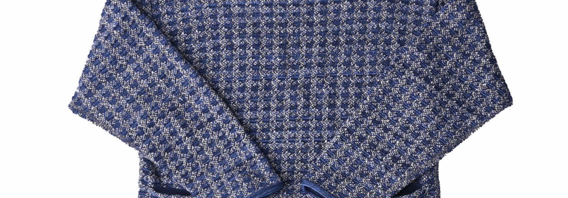 Indigo Knit Jacquard 908 Umahiko Sweater