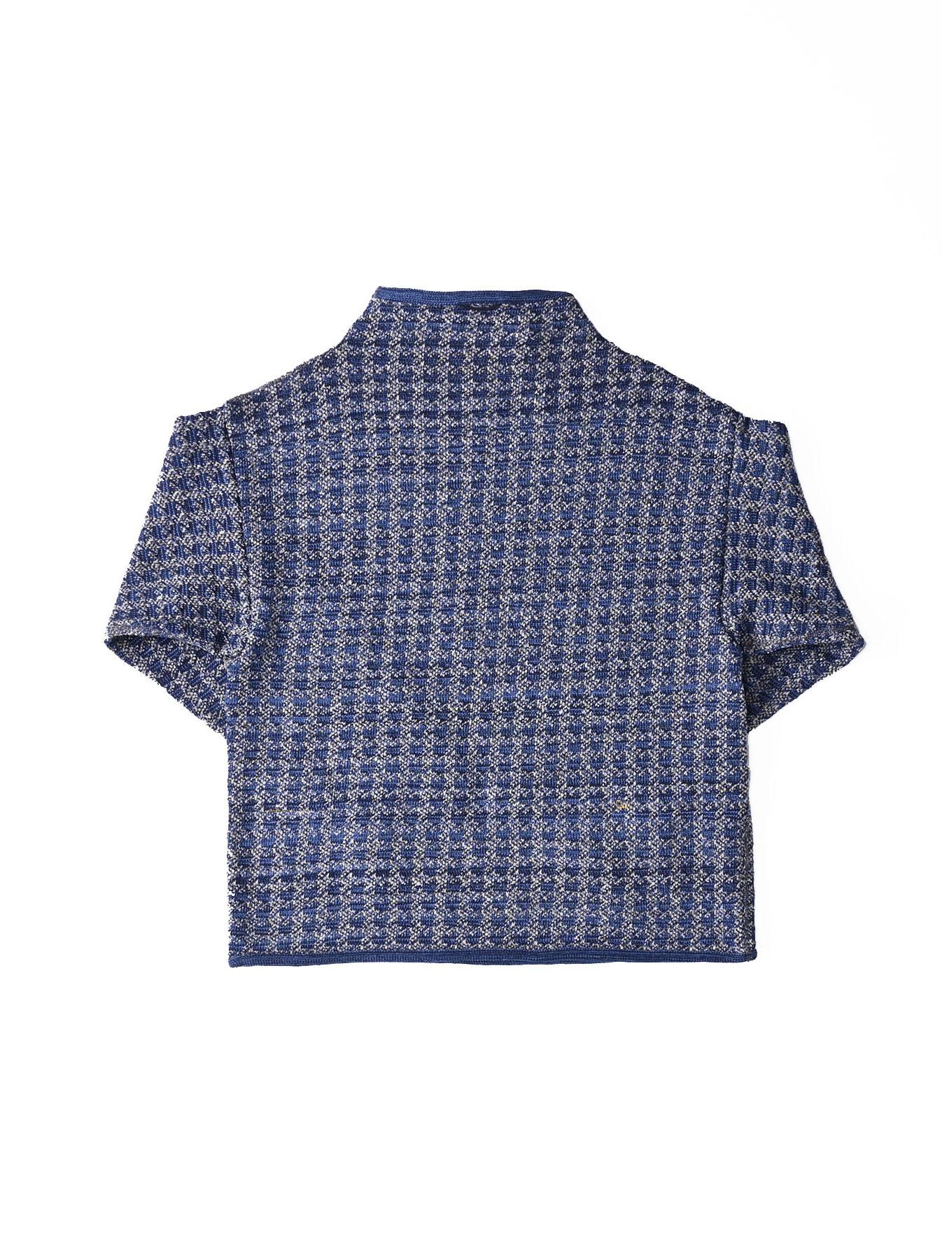 Indigo Knit Jacquard 908 Umahiko Sweater-6