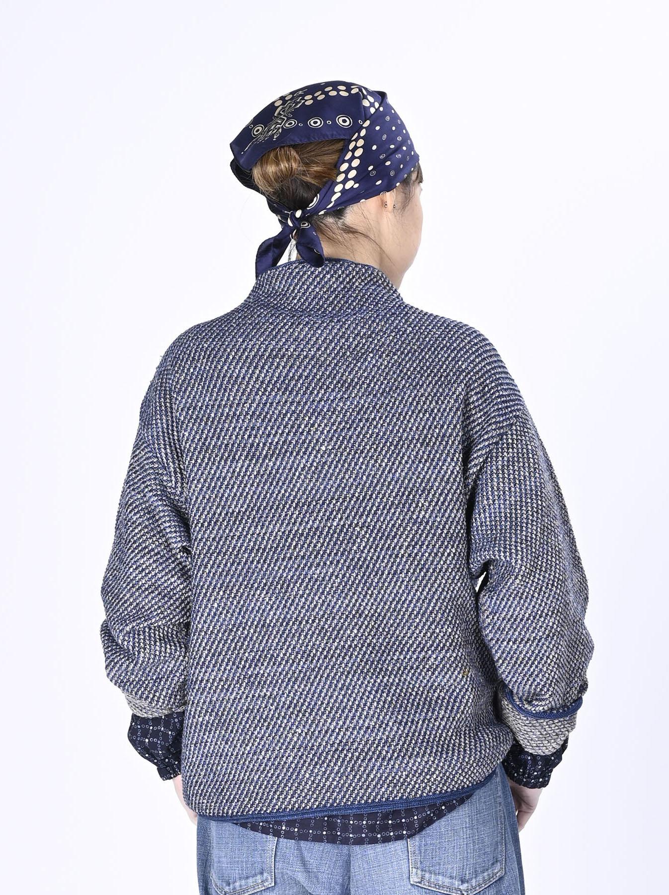Indigo Knit Jacquard 908 Umahiko Sweater-5